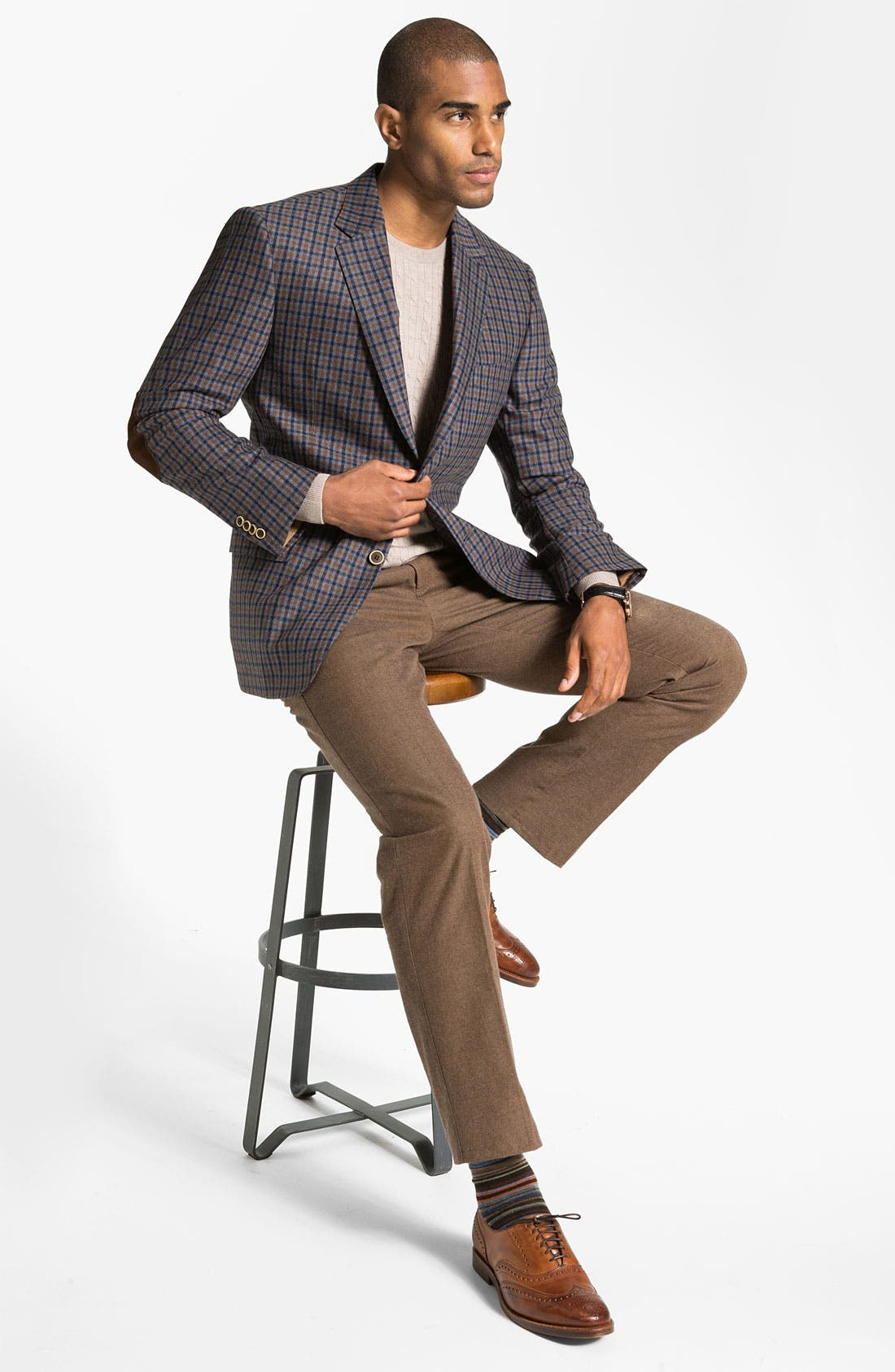 Alternate Image 4  - Peter Millar Flat Front Cotton Trousers