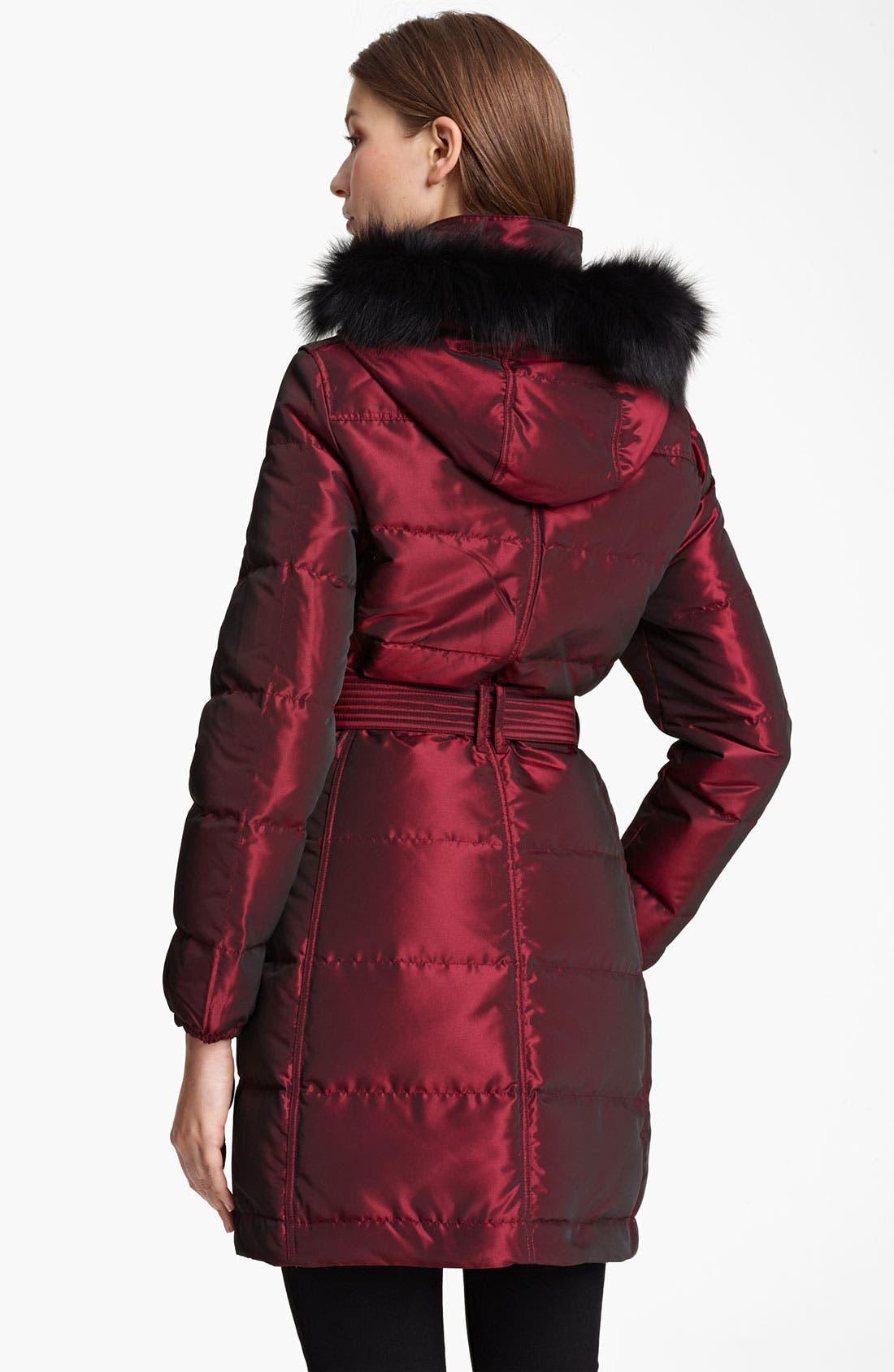 Alternate Image 2  - Burberry Brit Quilted Genuine Fox Fur Trim Down Jacket (Online Exclusive)