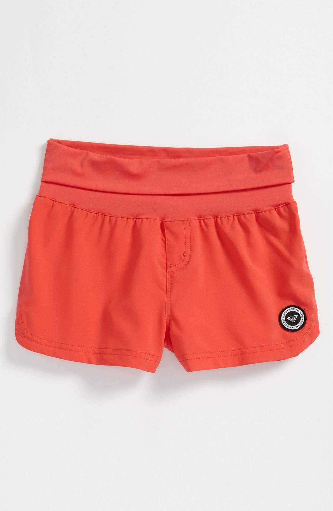 Main Image - Roxy Solid Board Shorts (Big Girls)