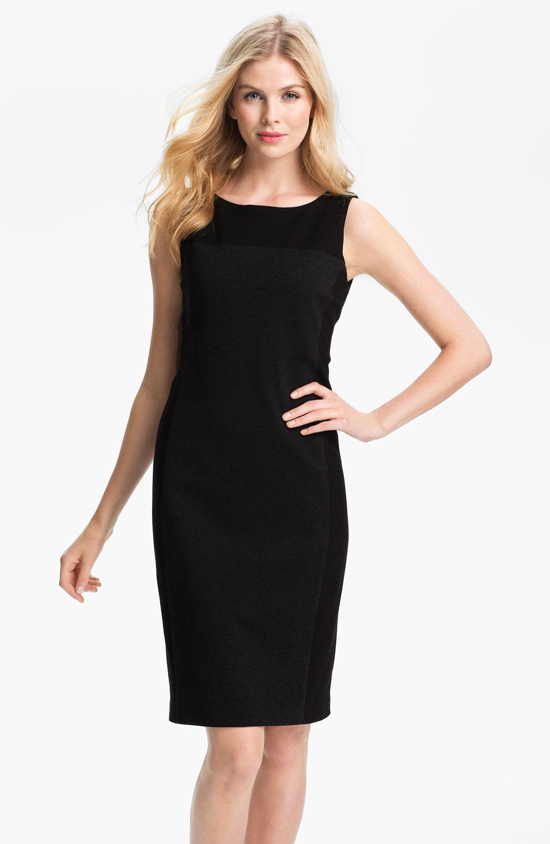 Alternate Image 1 Selected - Eileen Fisher Ponte Sheath Dress