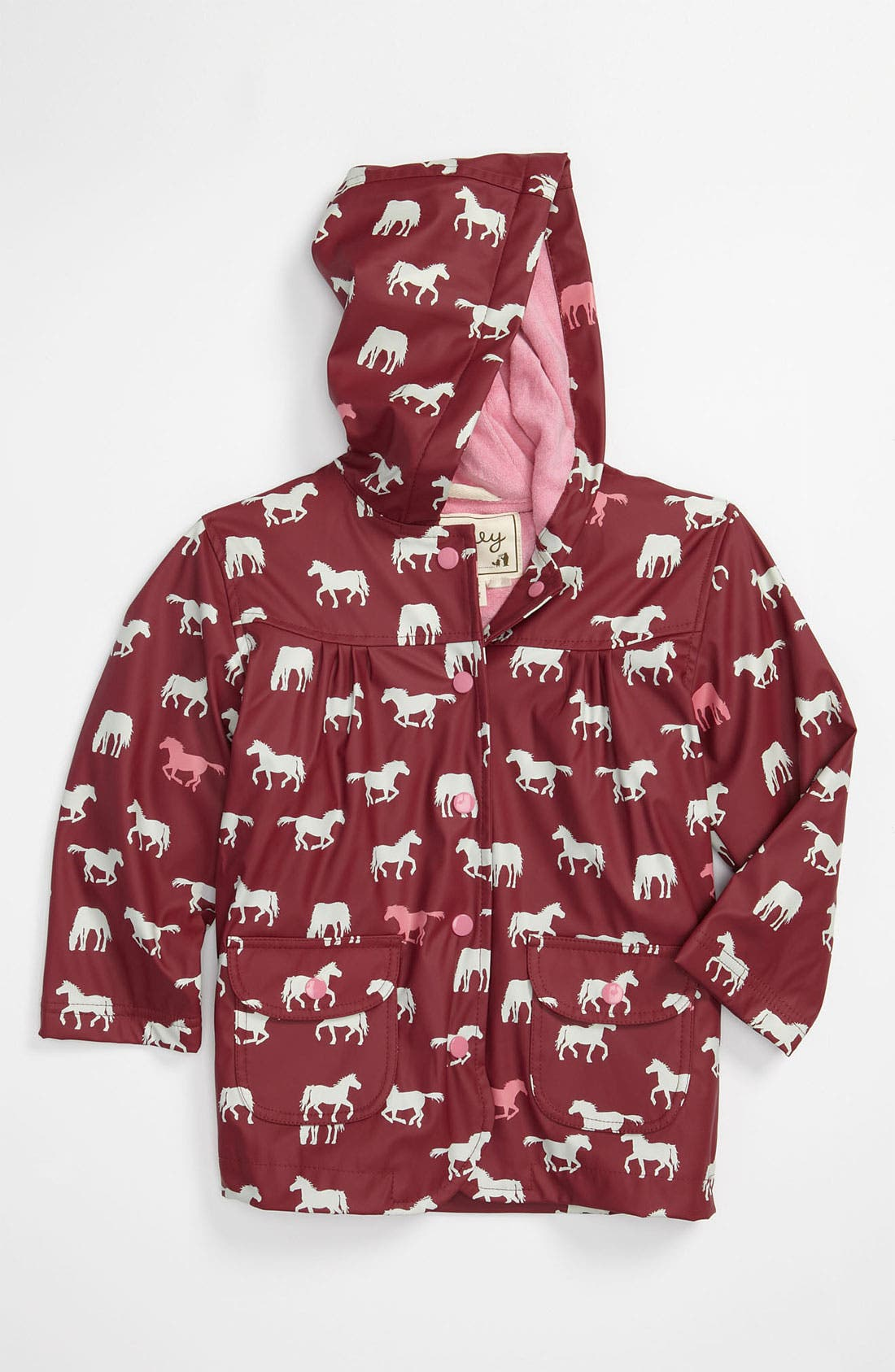 Alternate Image 1 Selected - Hatley 'Pretty Horses' Rain Jacket (Infant, Toddler, Little Girls & Big Girls)