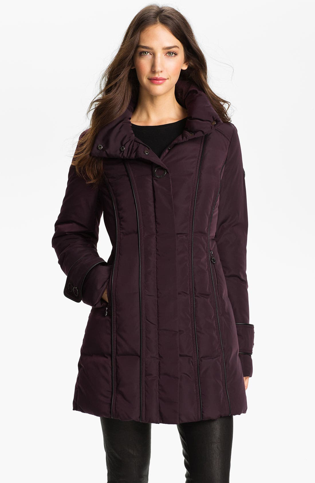 Alternate Image 1 Selected - Calvin Klein Quilted Walking Coat