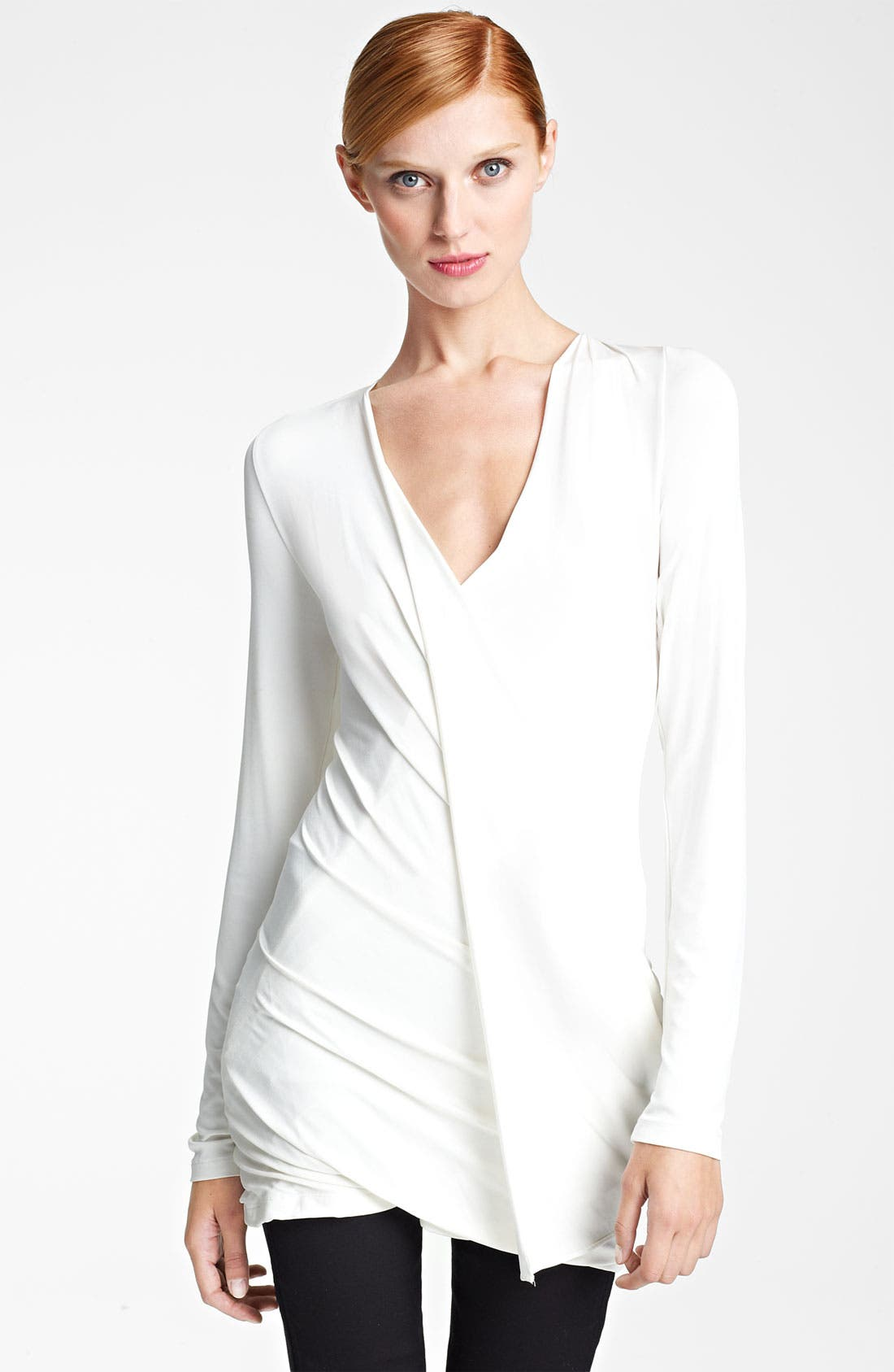 Main Image - Donna Karan Collection Draped Jersey Top