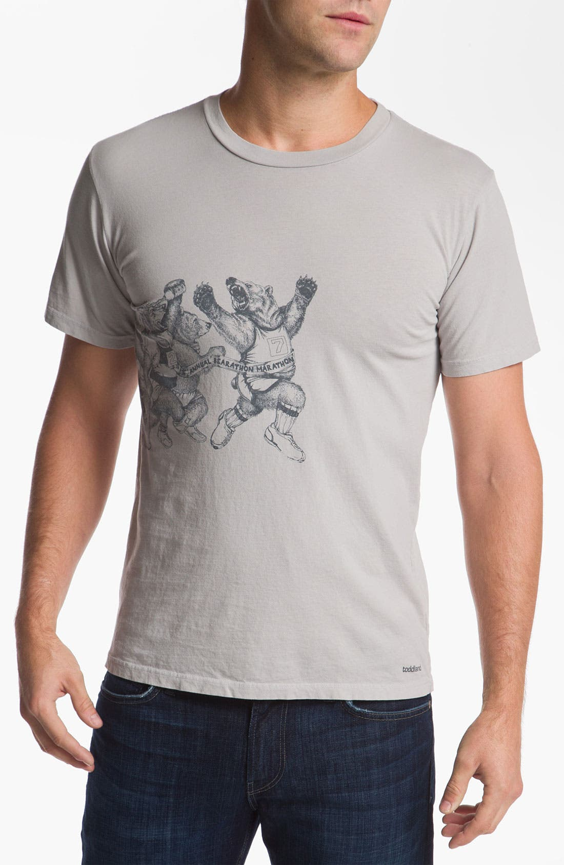Alternate Image 1 Selected - Toddland 'Bearathon' T-Shirt