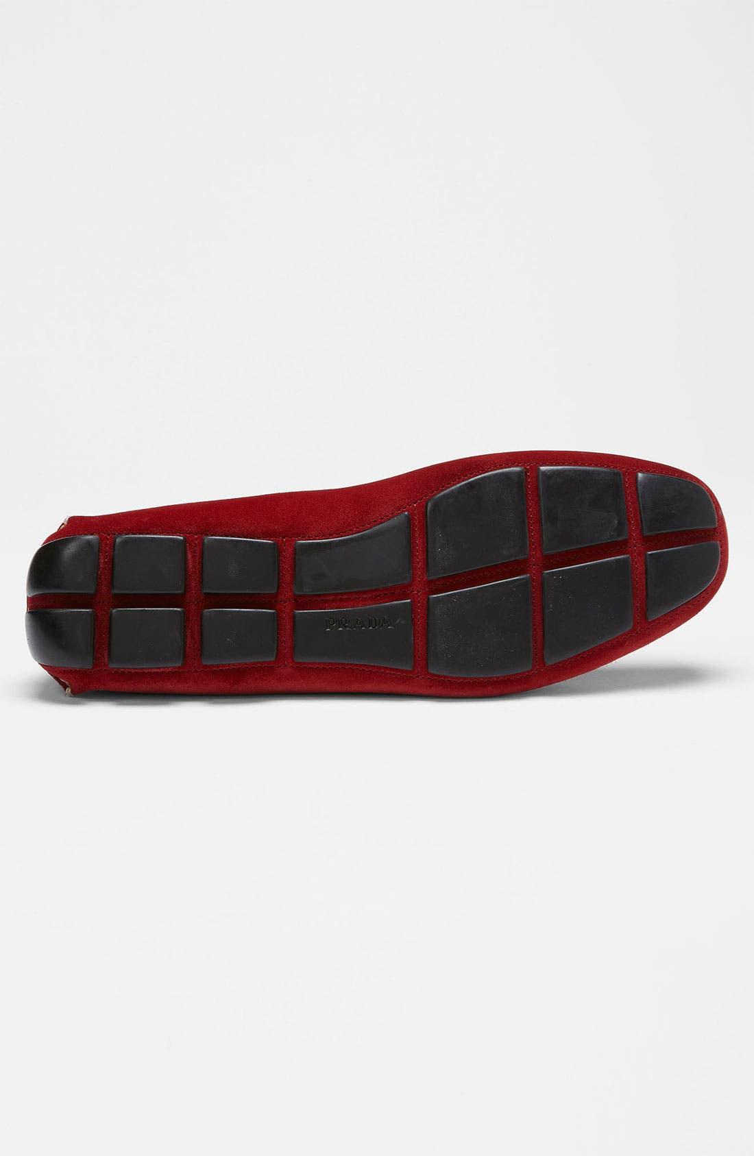 Alternate Image 4  - Prada Suede Driving Shoe