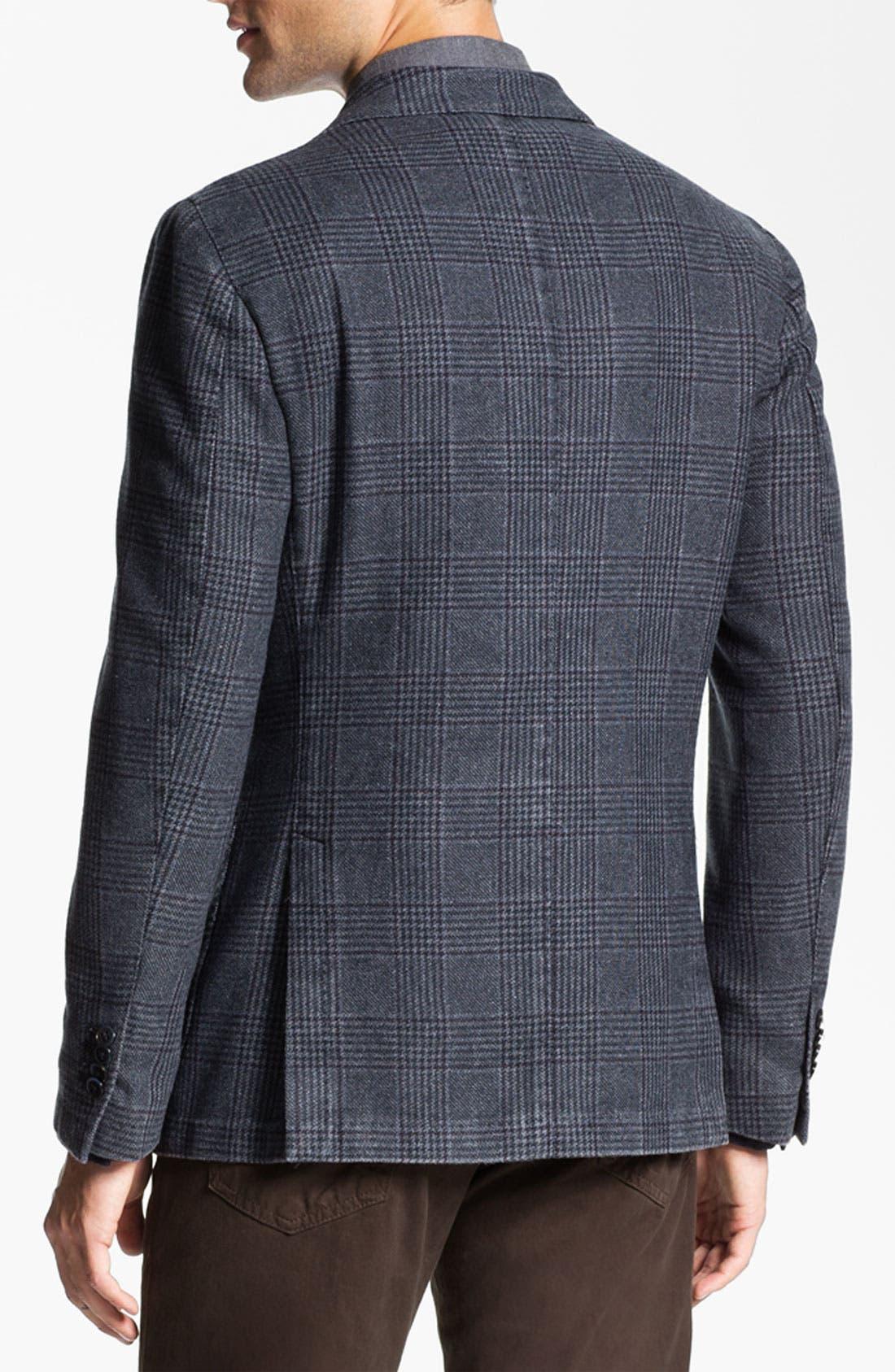 Alternate Image 2  - Lubiam Trim Fit Plaid Wool Blend Sportcoat