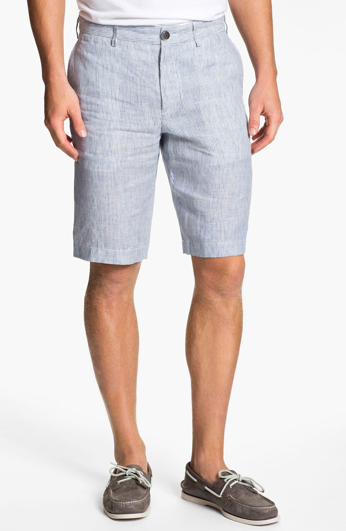 Alternate Image 1 Selected - Vince Stripe Linen Trouser Shorts