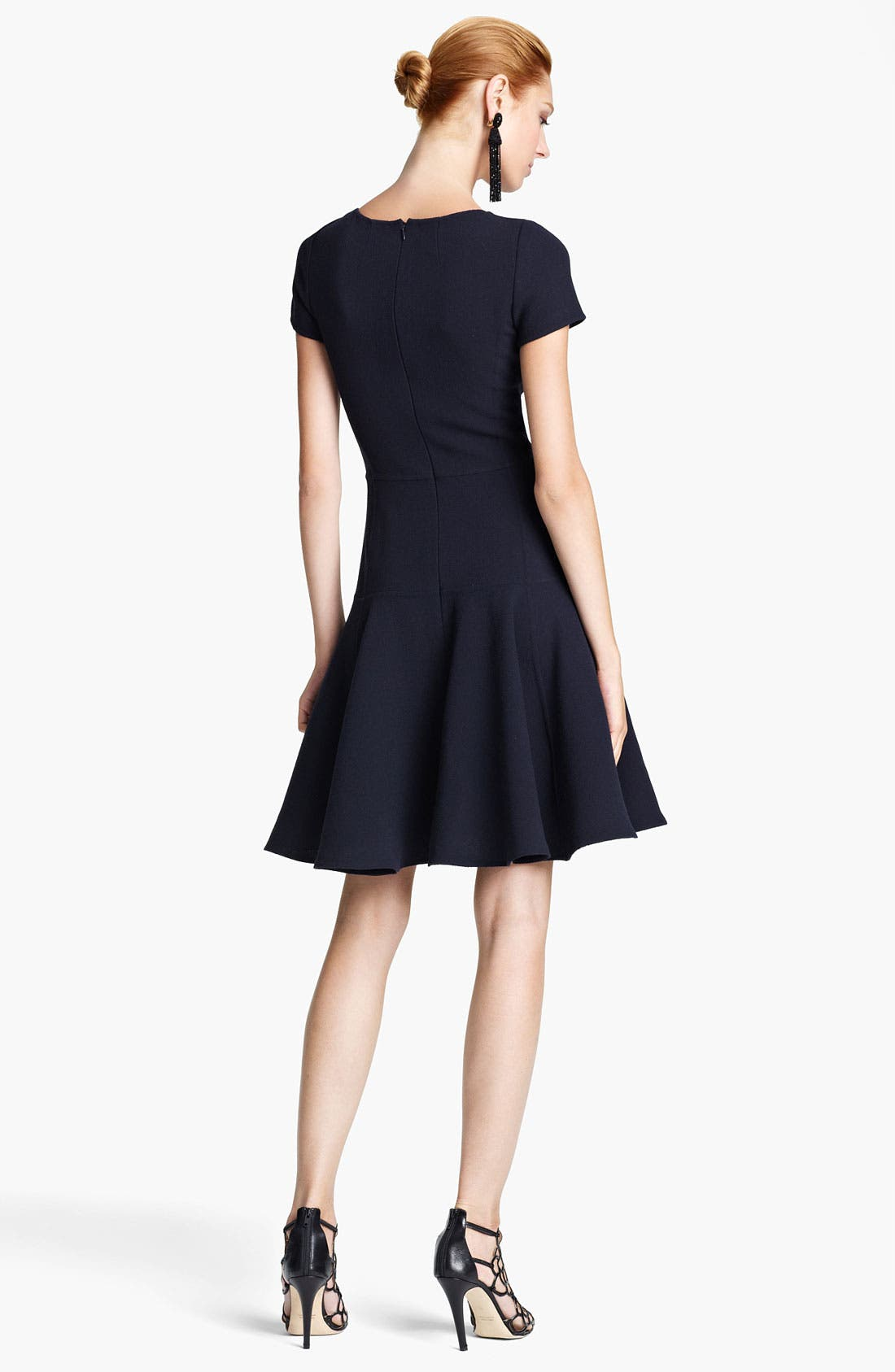 Alternate Image 2  - Oscar de la Renta Wool Flounce Dress
