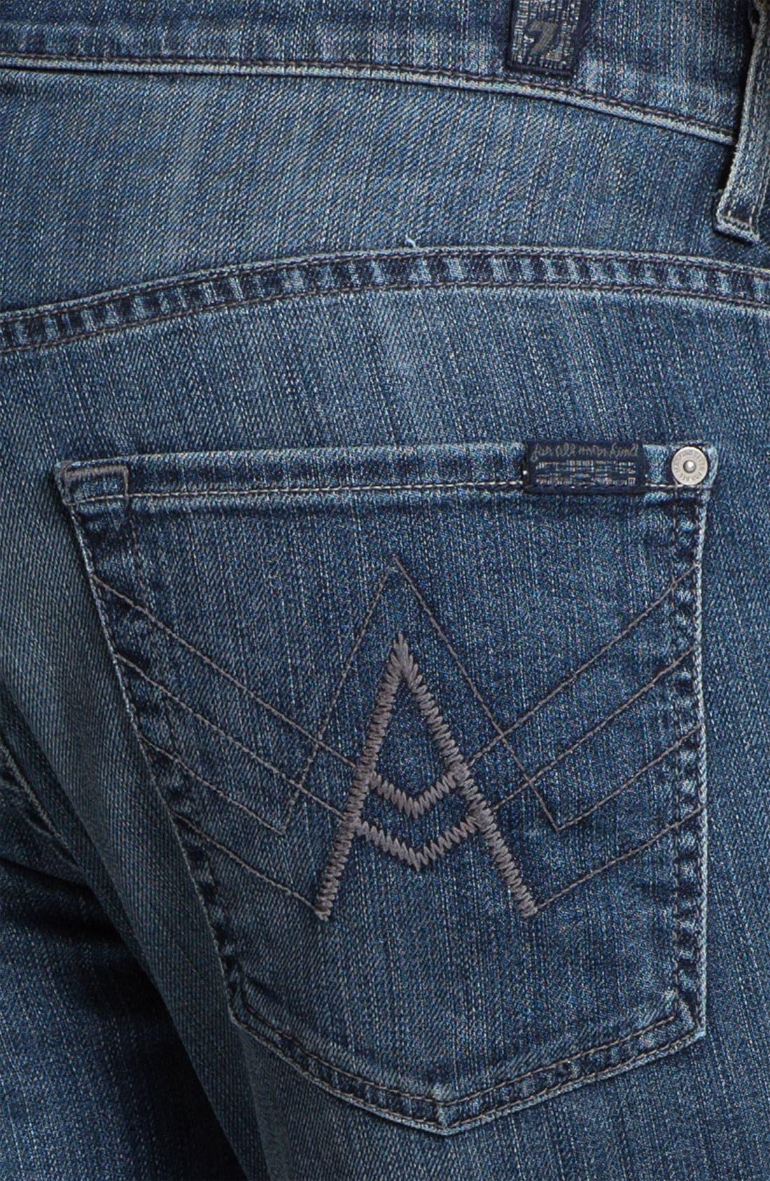 Alternate Image 4  - 7 For All Mankind® 'Brett' Bootcut Jeans (Nakkita Grey)