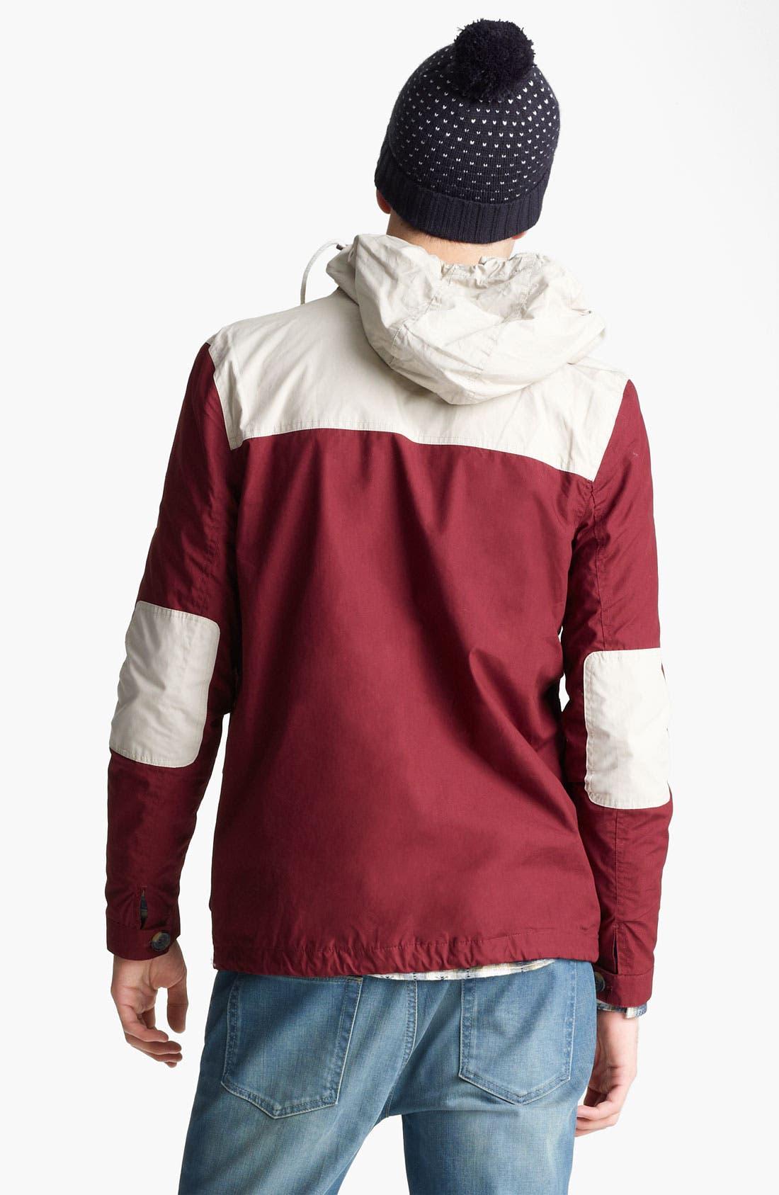 Alternate Image 2  - Topman Colorblock Hooded Jacket