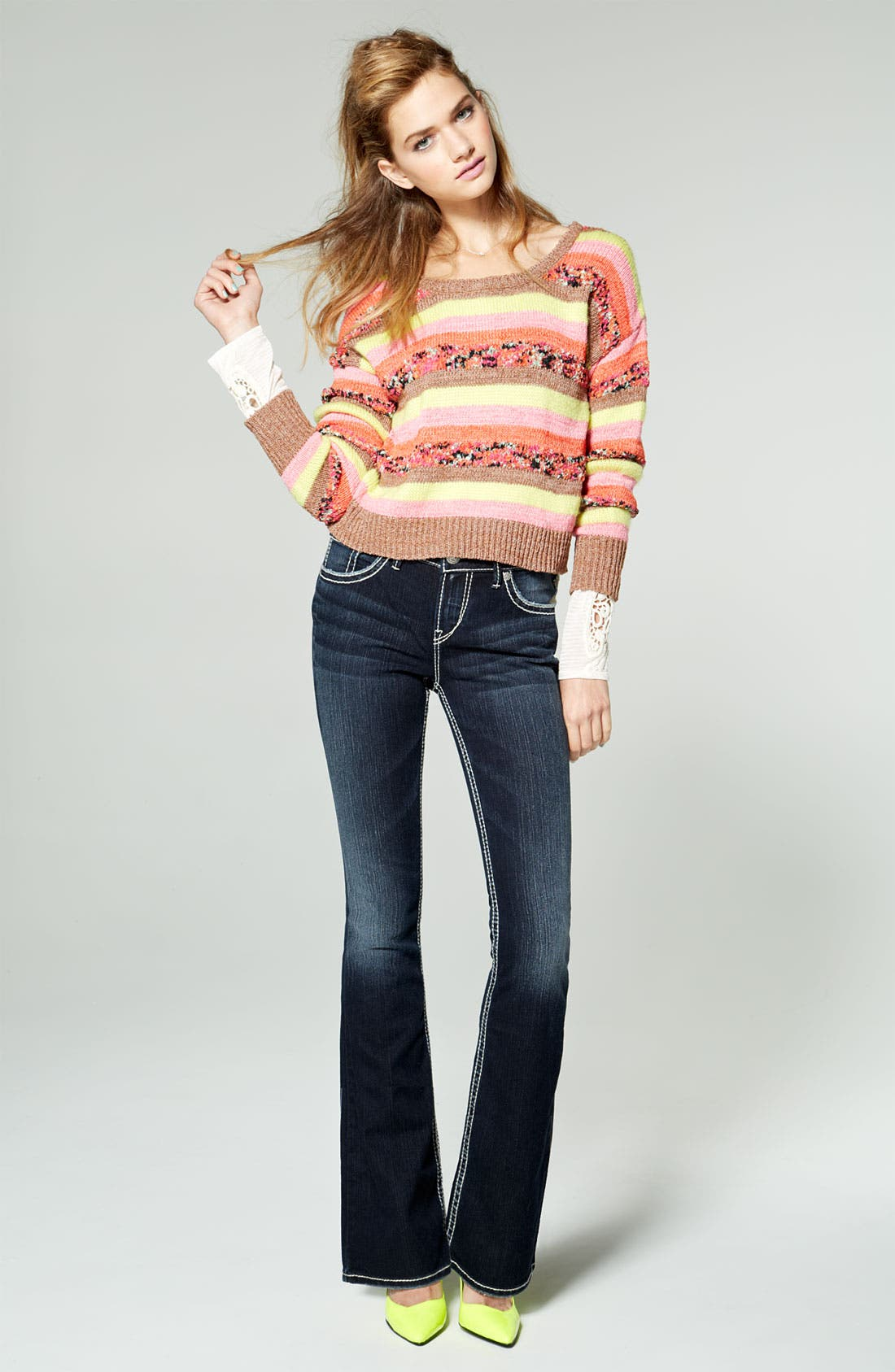 Alternate Image 4  - Silver Jeans Co. 'Natsuki' Bootcut Jeans (Juniors)