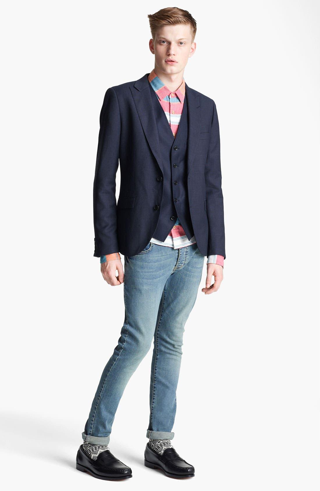 Alternate Image 3  - Topman 'Chester' Skinny Blazer