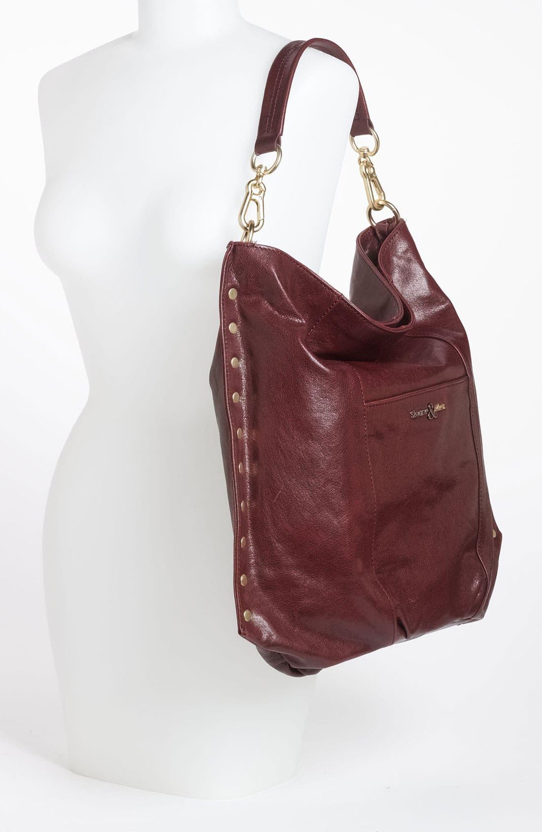 Alternate Image 2  - Sloane & Alex 'Angie' Leather Hobo