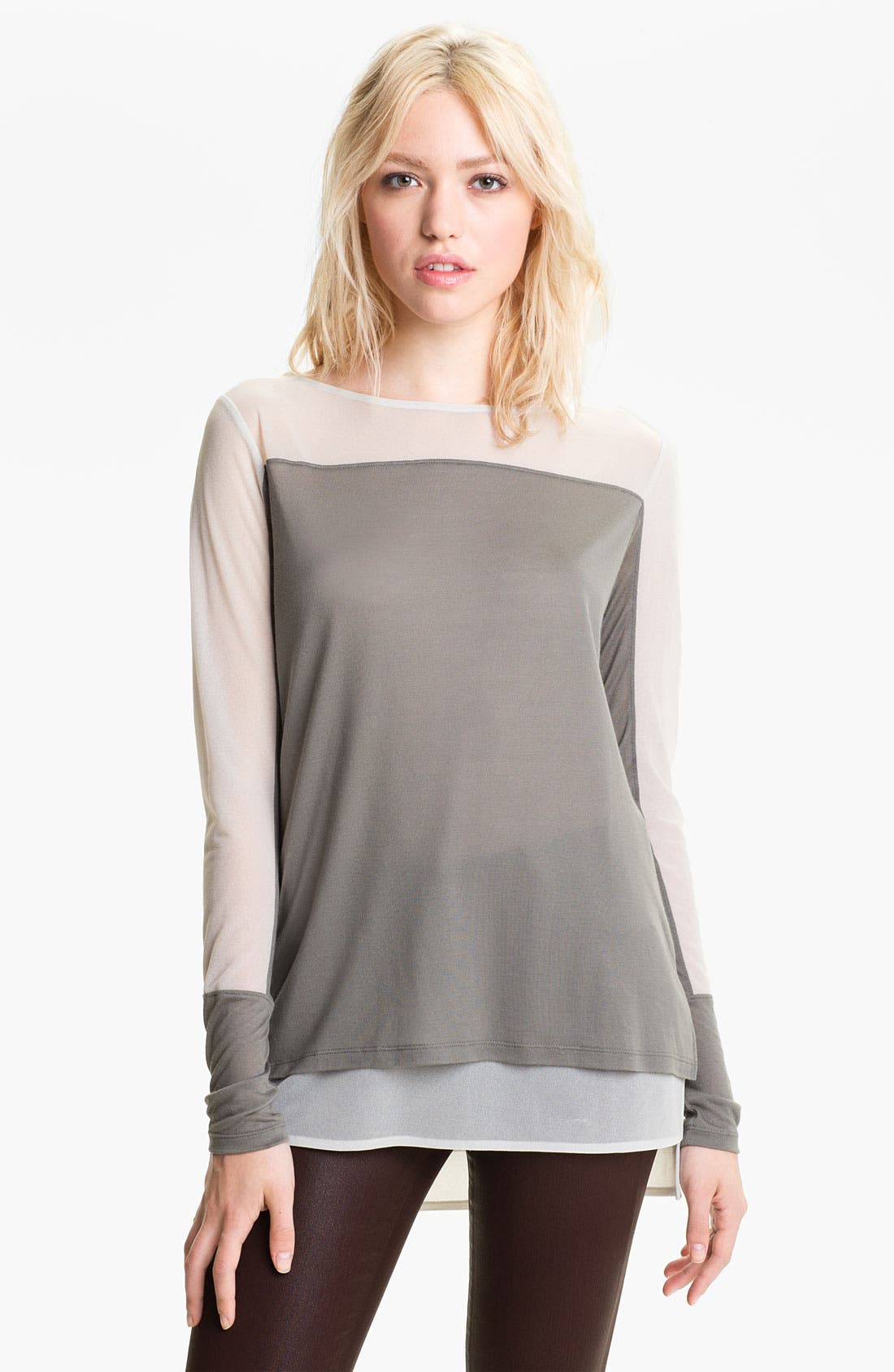 Main Image - Trouvé Sheer Sleeve Top
