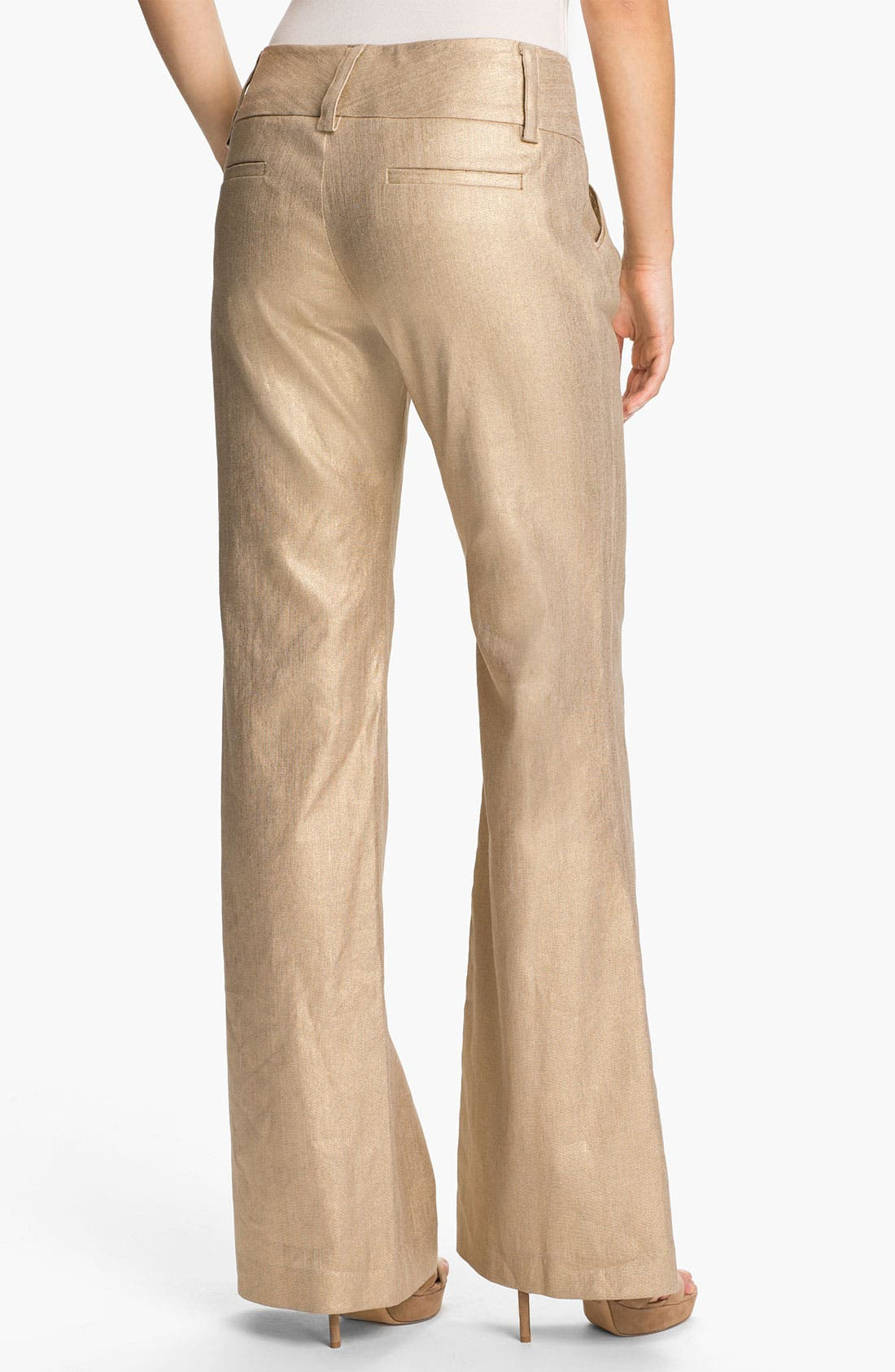 Alternate Image 2  - Alice + Olivia 'Olivia' Wide Leg Stretch Pants
