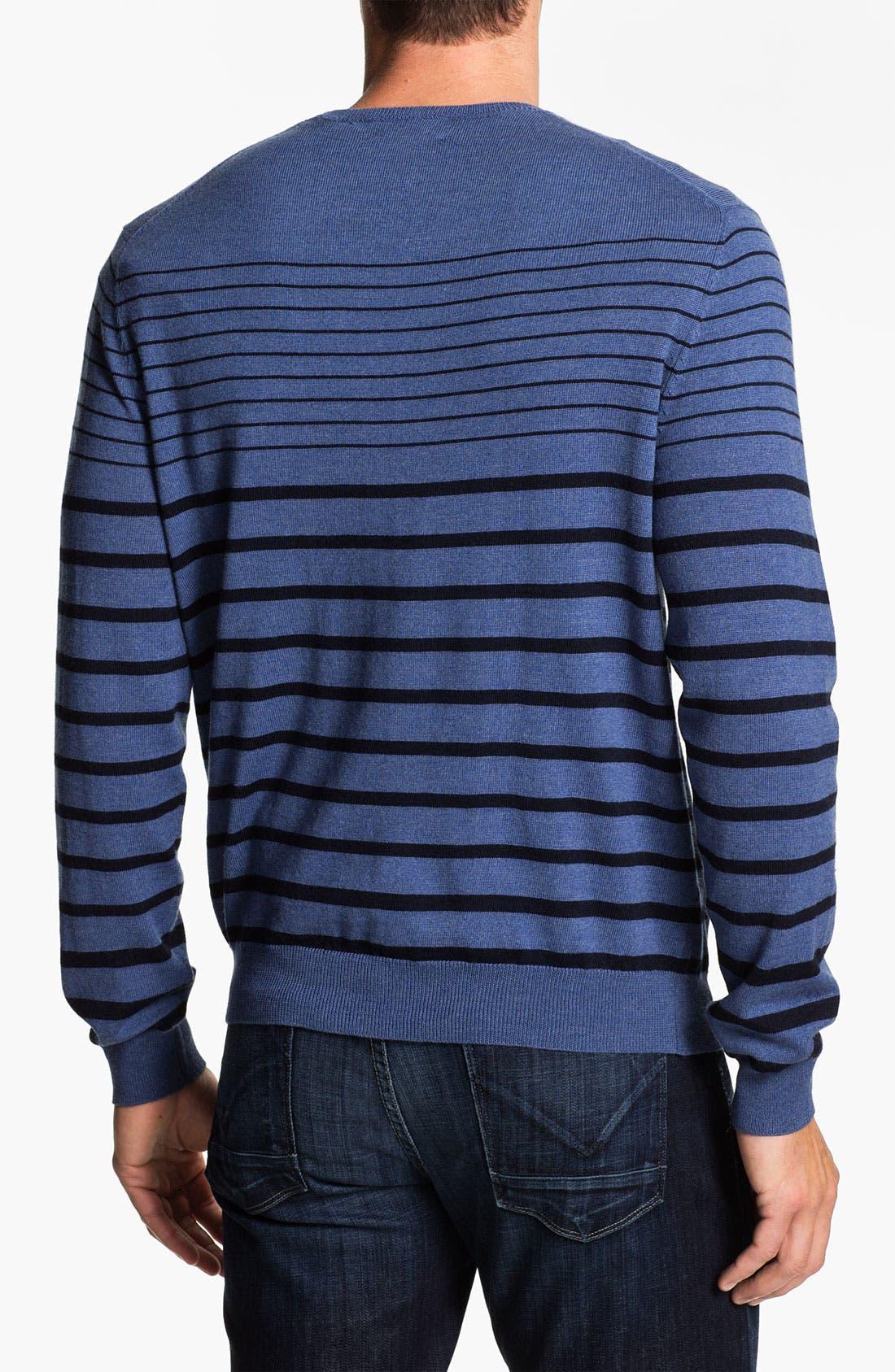 Alternate Image 2  - Psycho Bunny Stripe Merino Wool Sweater