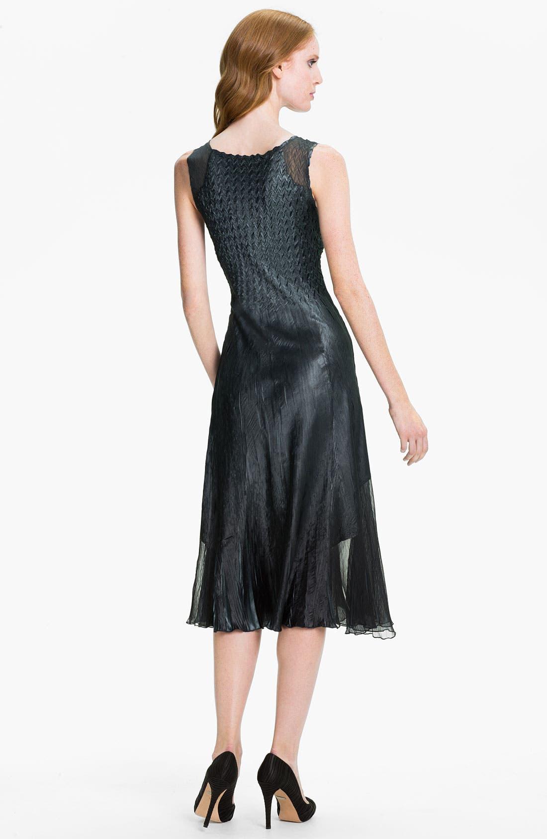 Alternate Image 3  - Komarov V-Neck Textured Charmeuse Dress & Chiffon Jacket