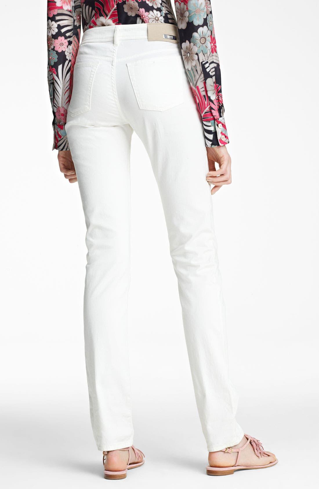 Alternate Image 2  - Armani Collezioni High Waist Stretch Jeans
