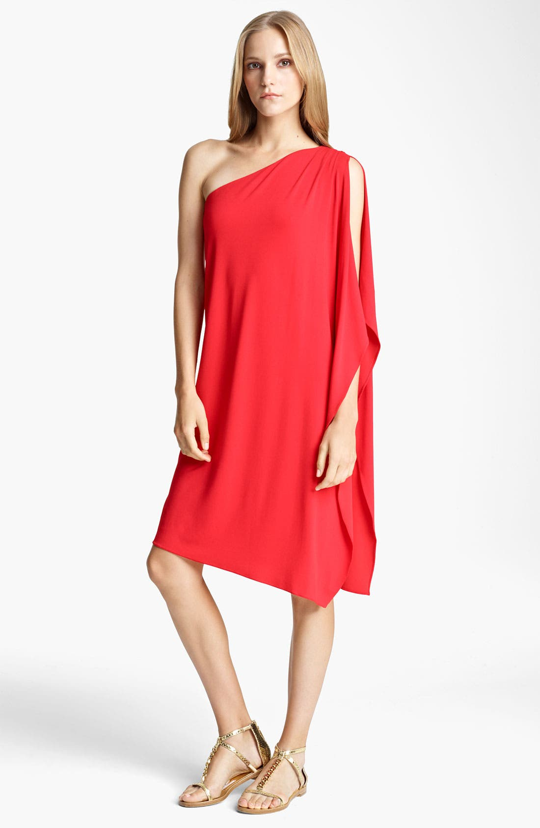 Alternate Image 1 Selected - Michael Kors One Shoulder Matte Jersey Dress