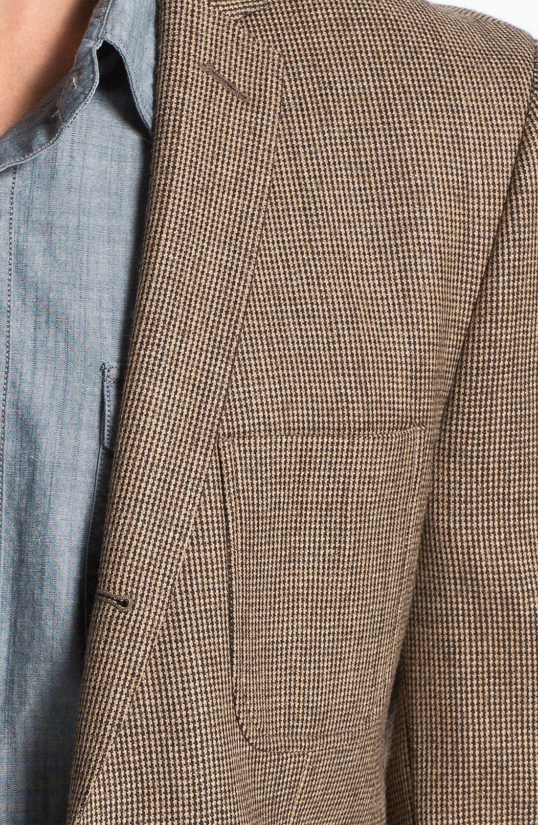 Alternate Image 3  - Dockers® Three-Button Houndstooth Wool Blazer