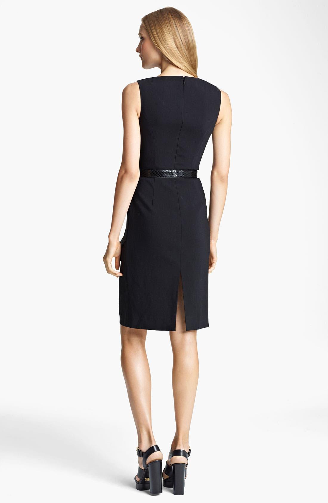 Alternate Image 2  - Michael Kors Lightweight Crepe Sheath Dress