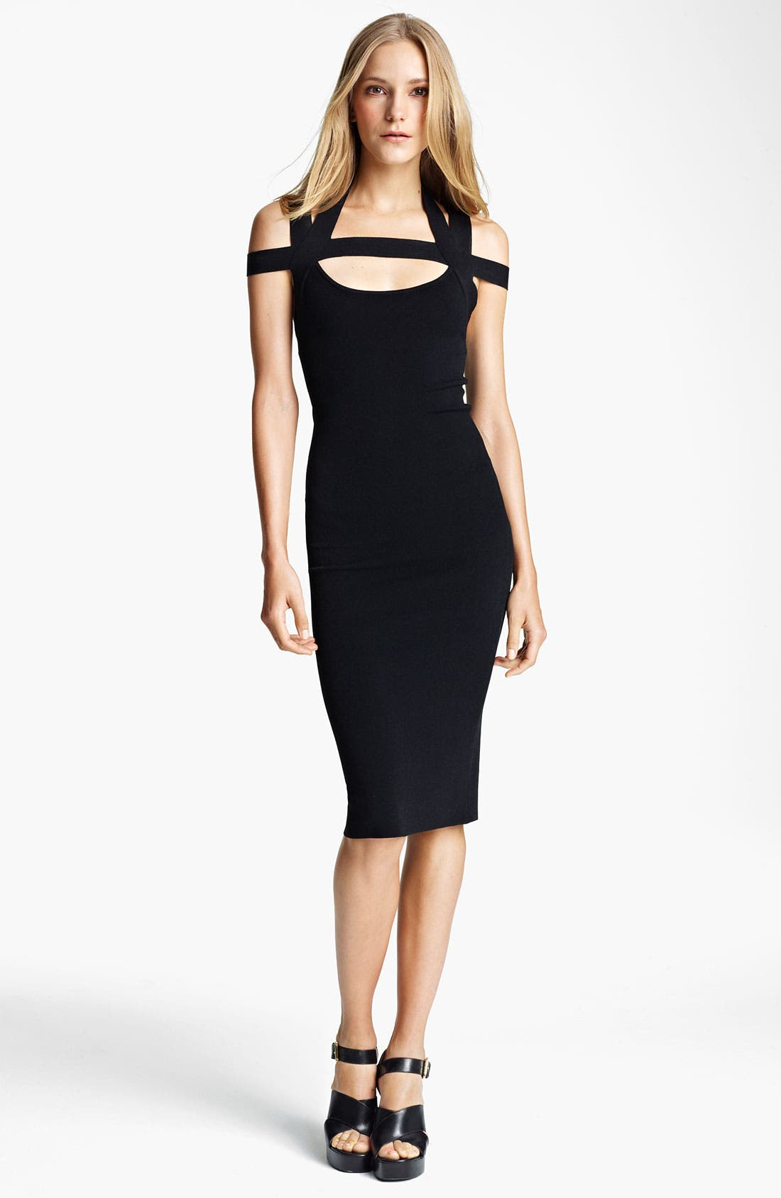 Main Image - Michael Kors Crisscross Matte Jersey Dress