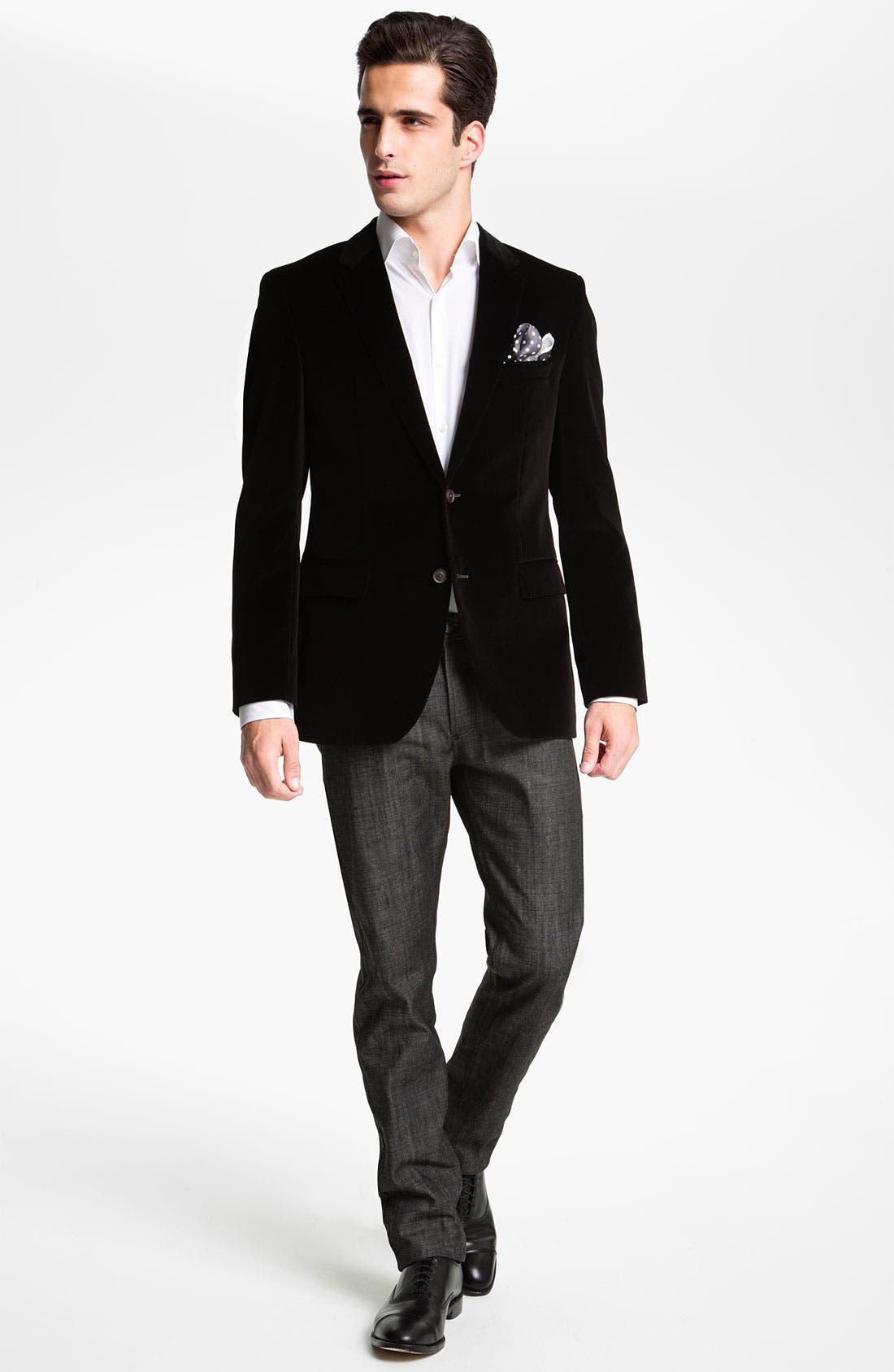 Alternate Image 4  - BOSS Black 'Keys' Velvet Blazer