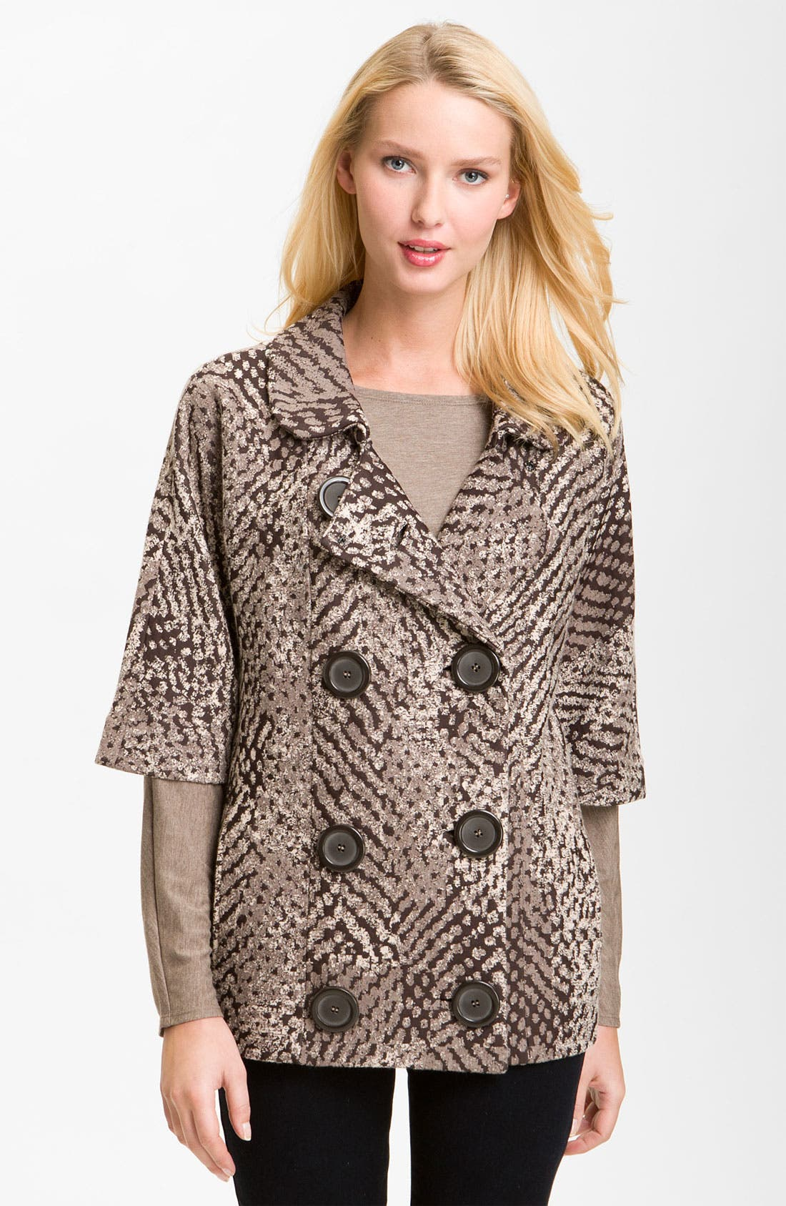 Alternate Image 1 Selected - Nic + Zoe 'Textured Dots' Knit Jacket (Petite)