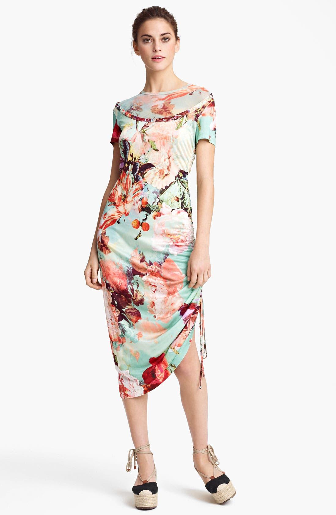 Alternate Image 1 Selected - Jean Paul Gaultier Fuzzi Print Tulle & Jersey Dress