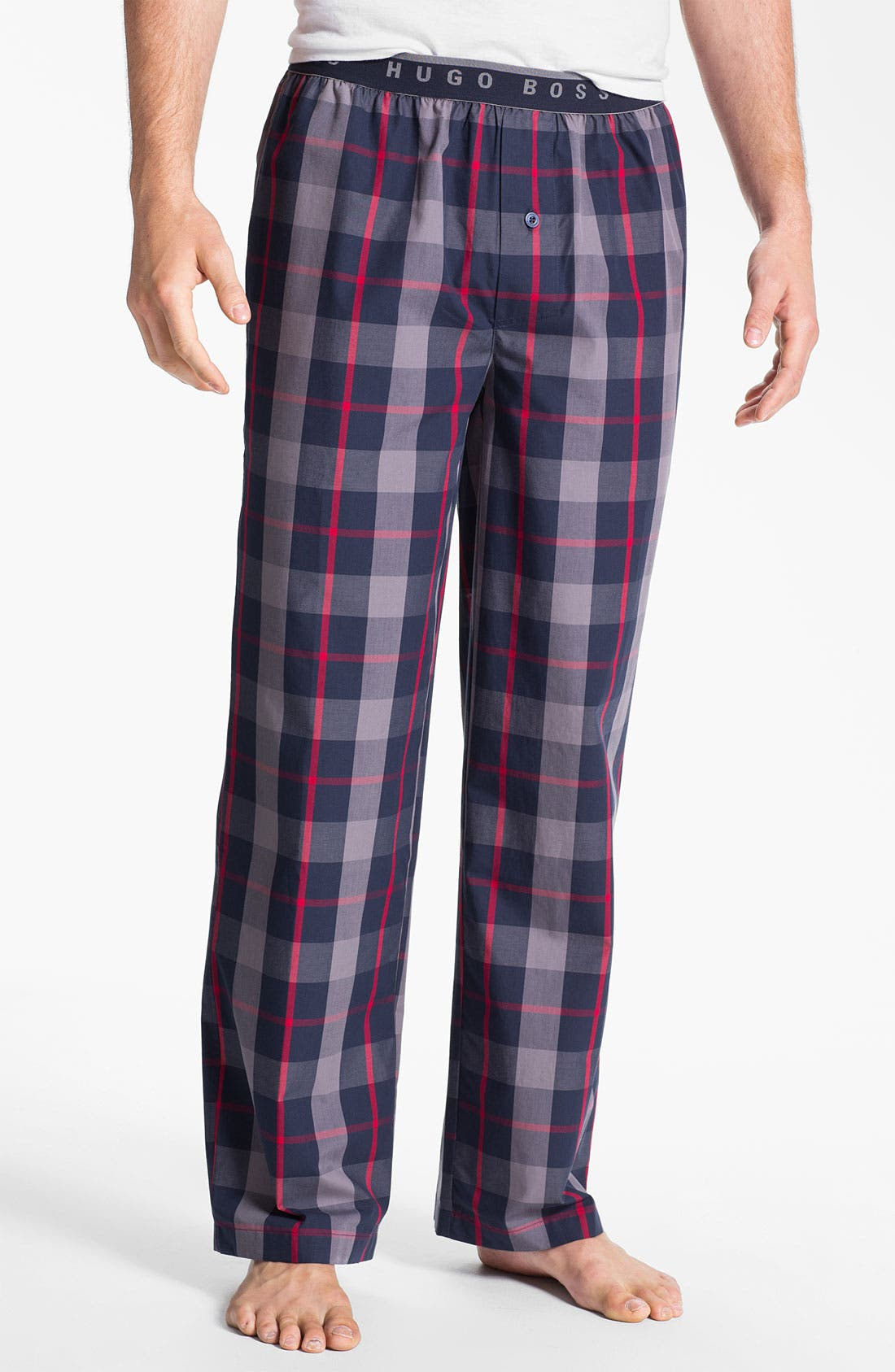 Alternate Image 1 Selected - BOSS Black 'Innovation 1' Plaid Lounge Pants