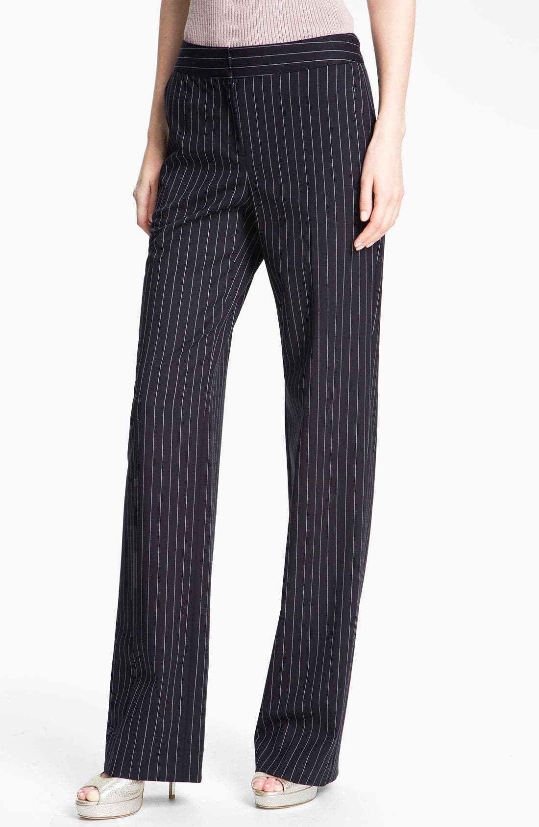 Alternate Image 2  - St. John Collection 'Shelley' Pinstripe Flare Leg Pants