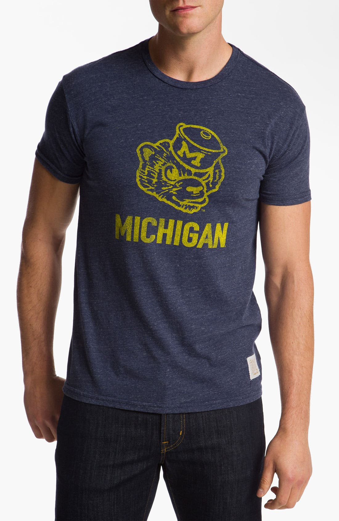 Main Image - The Original Retro Brand 'University of Michigan Wolverines - Stitch' T-Shirt
