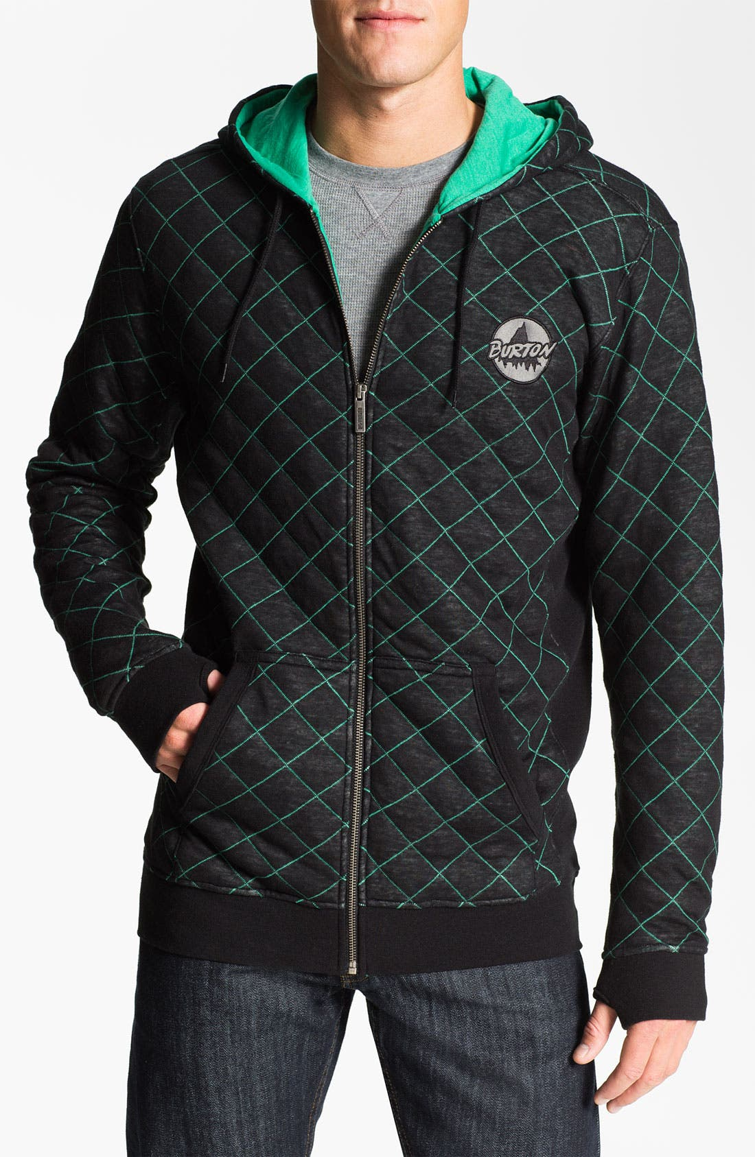 Alternate Image 1 Selected - Burton 'Issue' Quilted Zip Hoodie