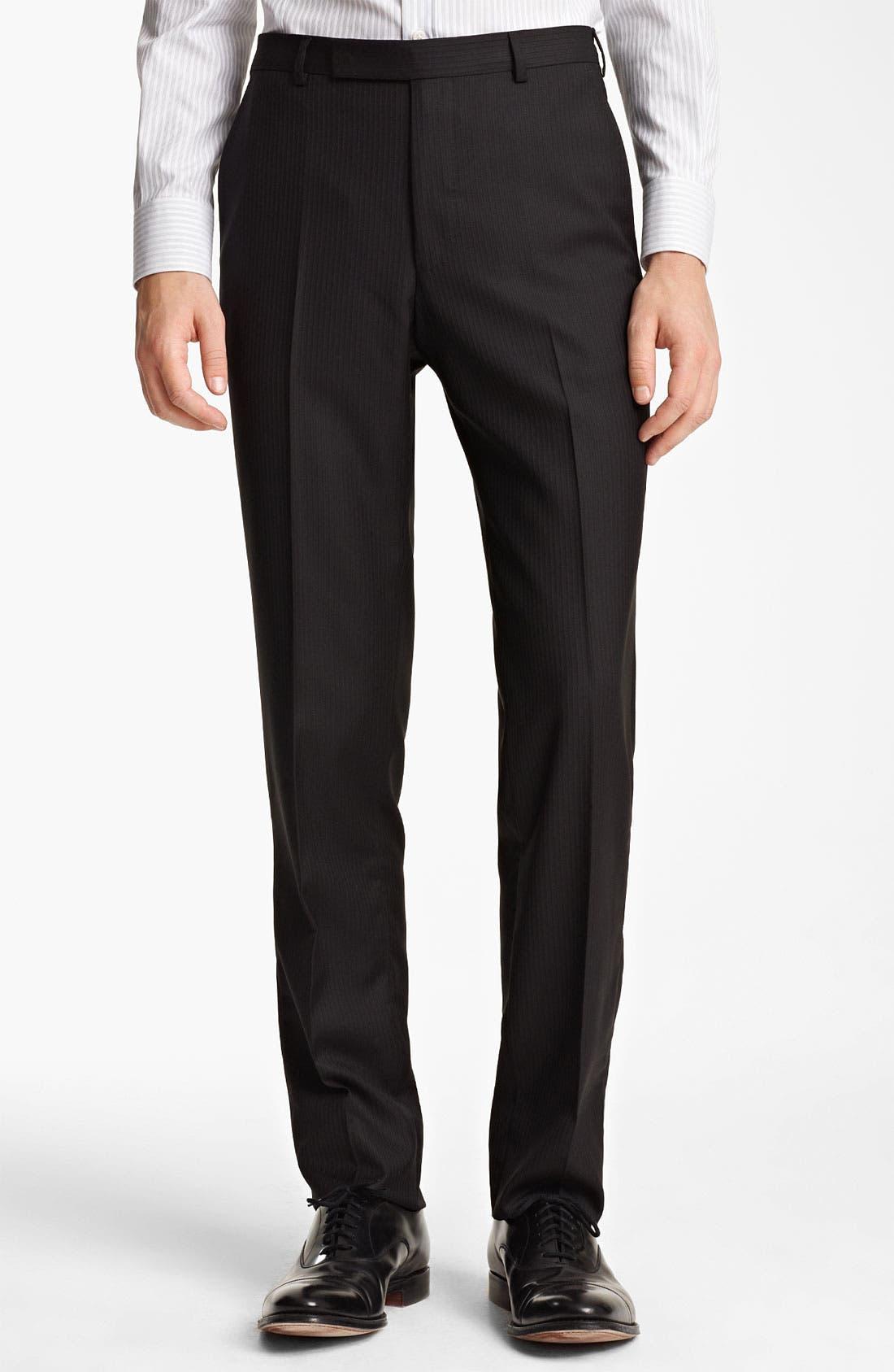 Alternate Image 4  - Z Zegna Trim Fit Herringbone Suit