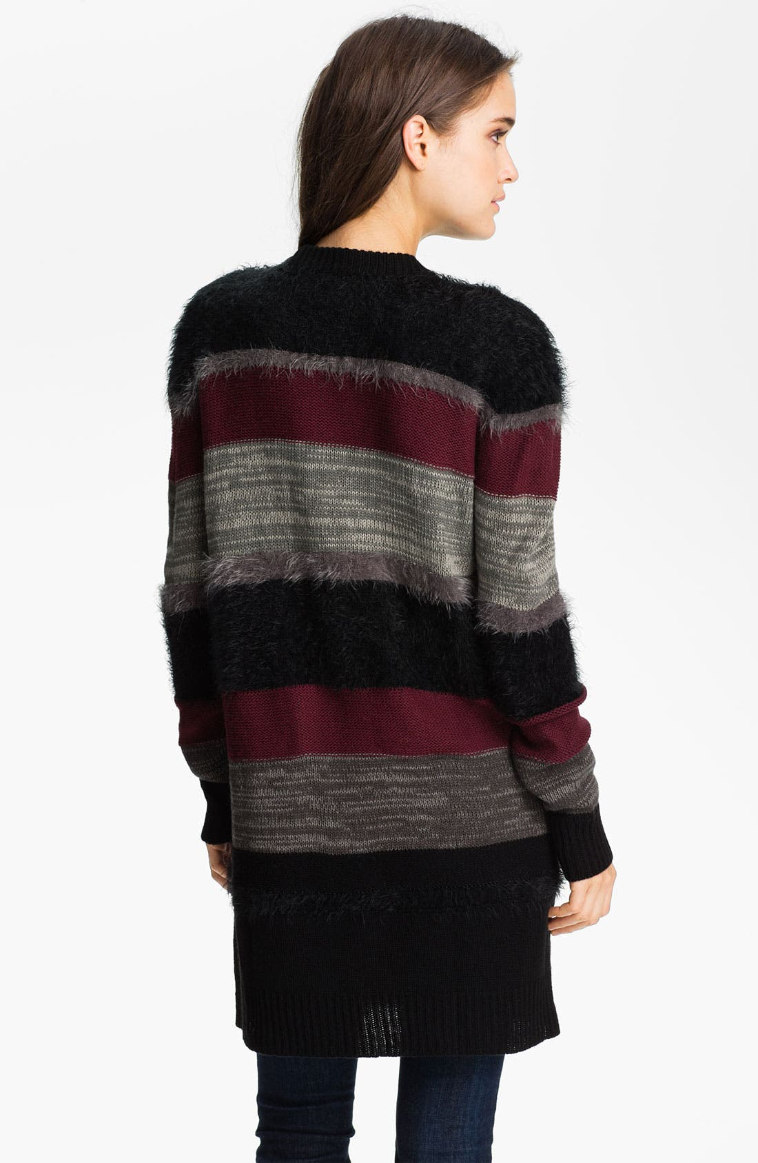 Alternate Image 2  - Trouvé Mix Knit Stripe Cardigan