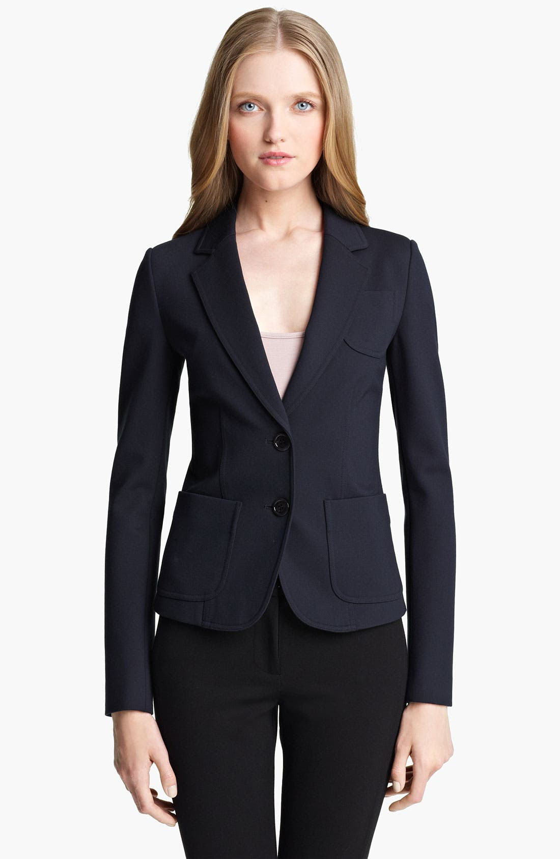 Alternate Image 1 Selected - Armani Collezioni Double Face Jersey Jacket
