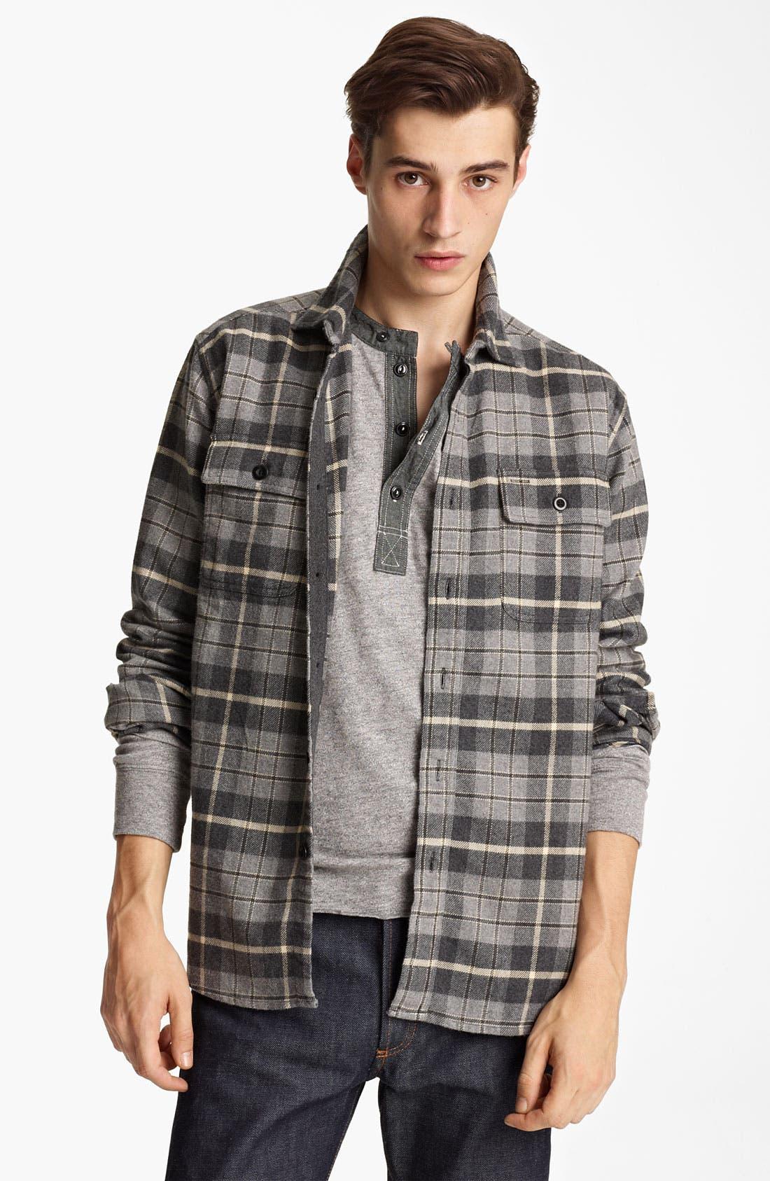 Alternate Image 1 Selected - Grayers Flannel Sport Shirt