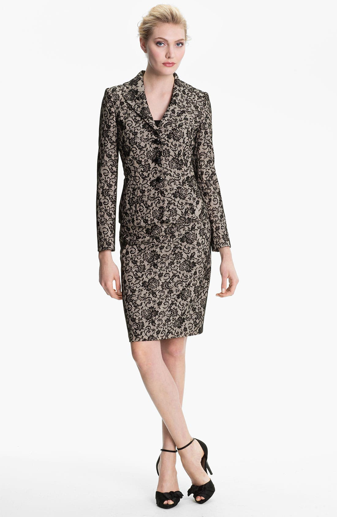 Alternate Image 1 Selected - Kay Unger Lace Jacquard Blazer