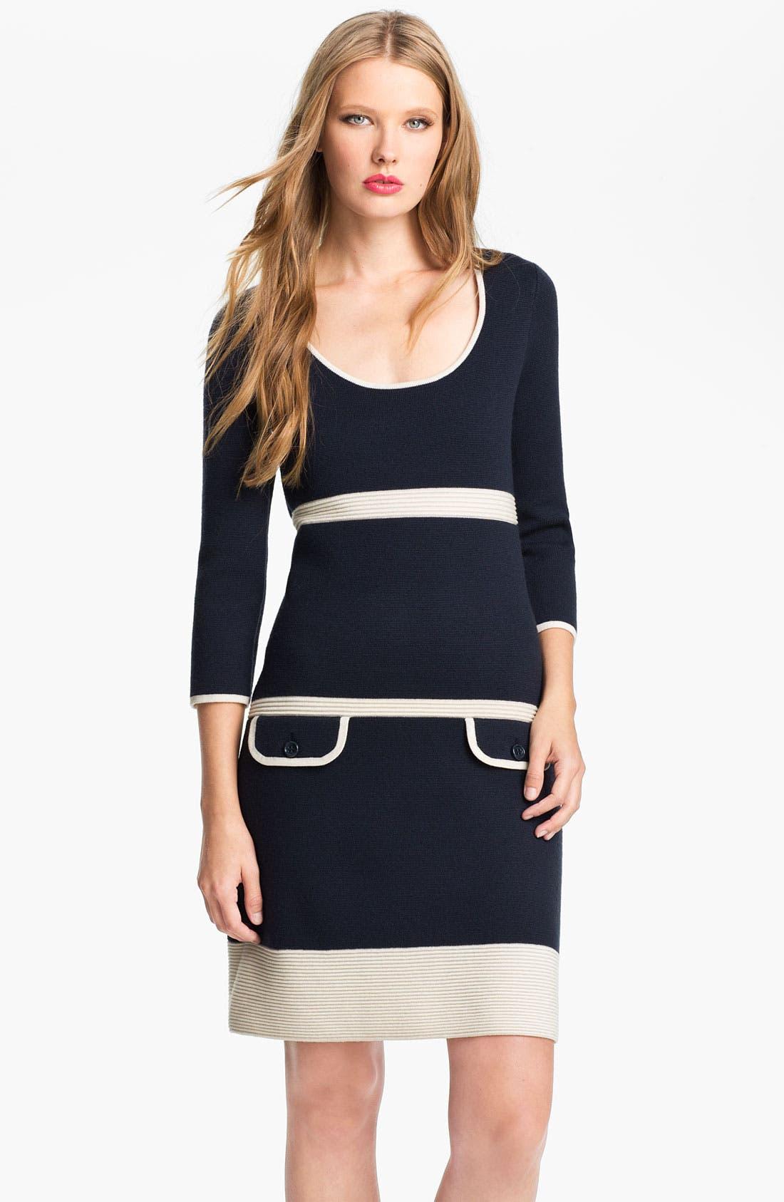 Main Image - kate spade new york 'cathie' merino wool sweater dress