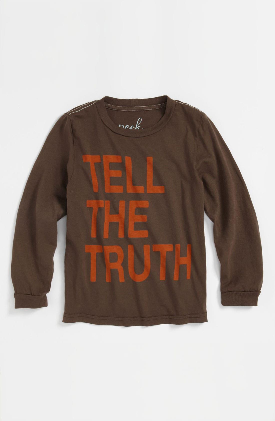 Alternate Image 1 Selected - Peek 'Tell The Truth' T-Shirt (Toddler, Little Boys & Big Boys)