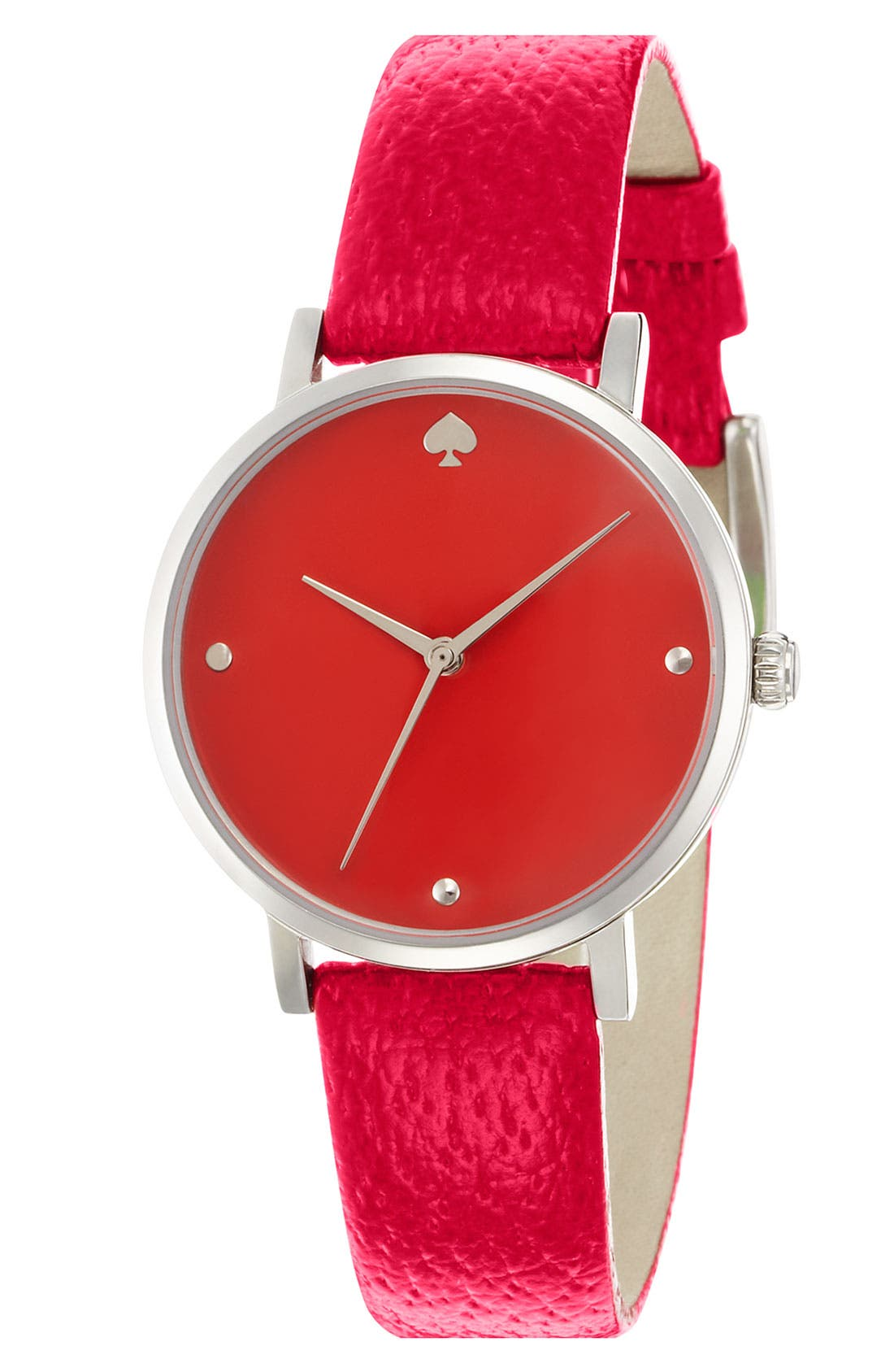 Alternate Image 1 Selected - kate spade new york 'metro' leather strap watch