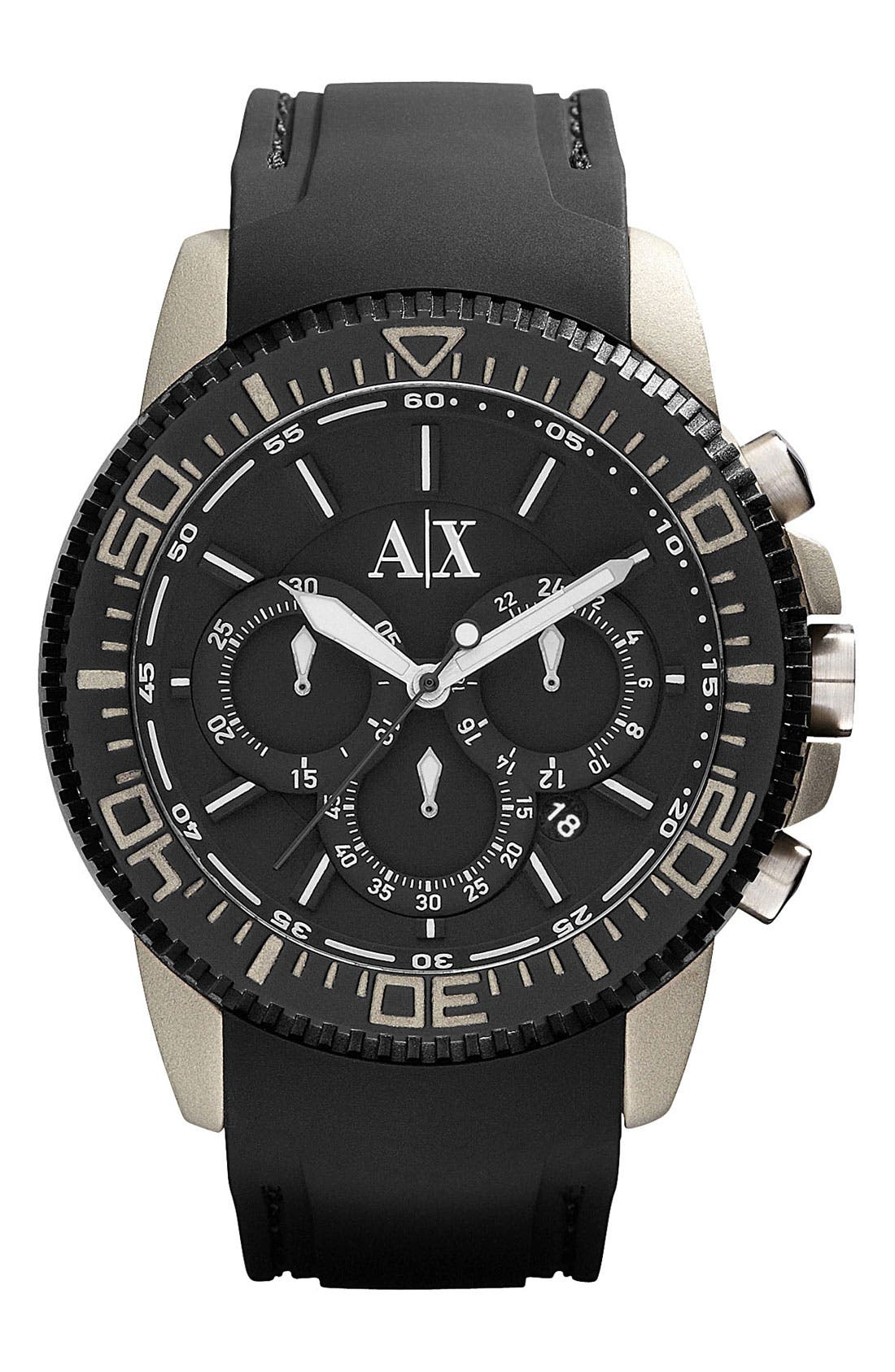 Main Image - AX Armani Exchange Round Chronograph Watch