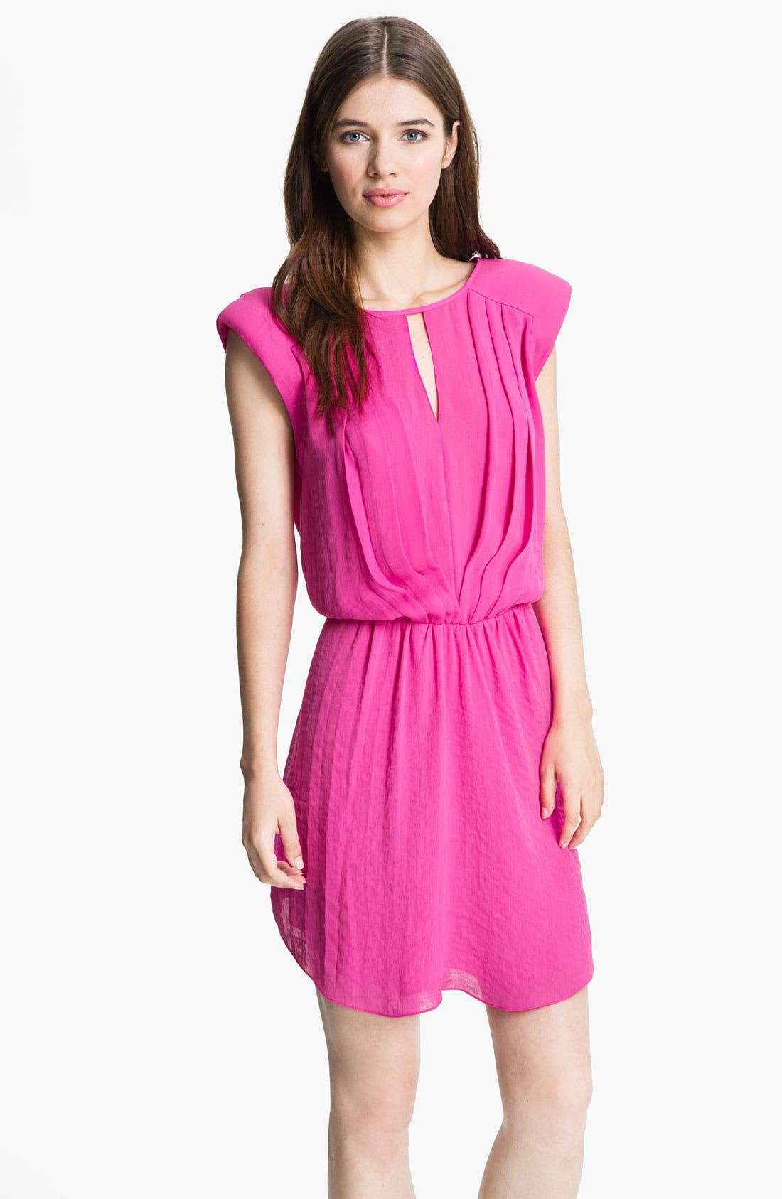 Main Image - Rebecca Taylor Pleated Blouson Dress