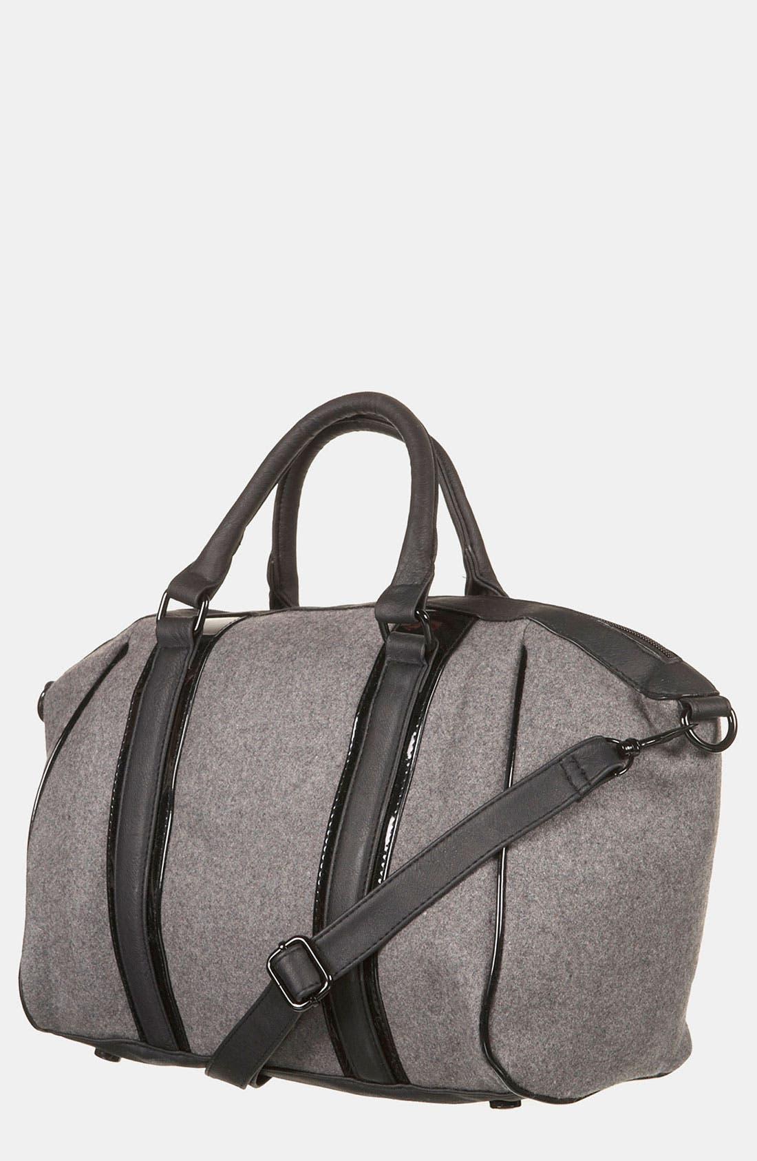 Main Image - Topshop Felt Duffel Bag