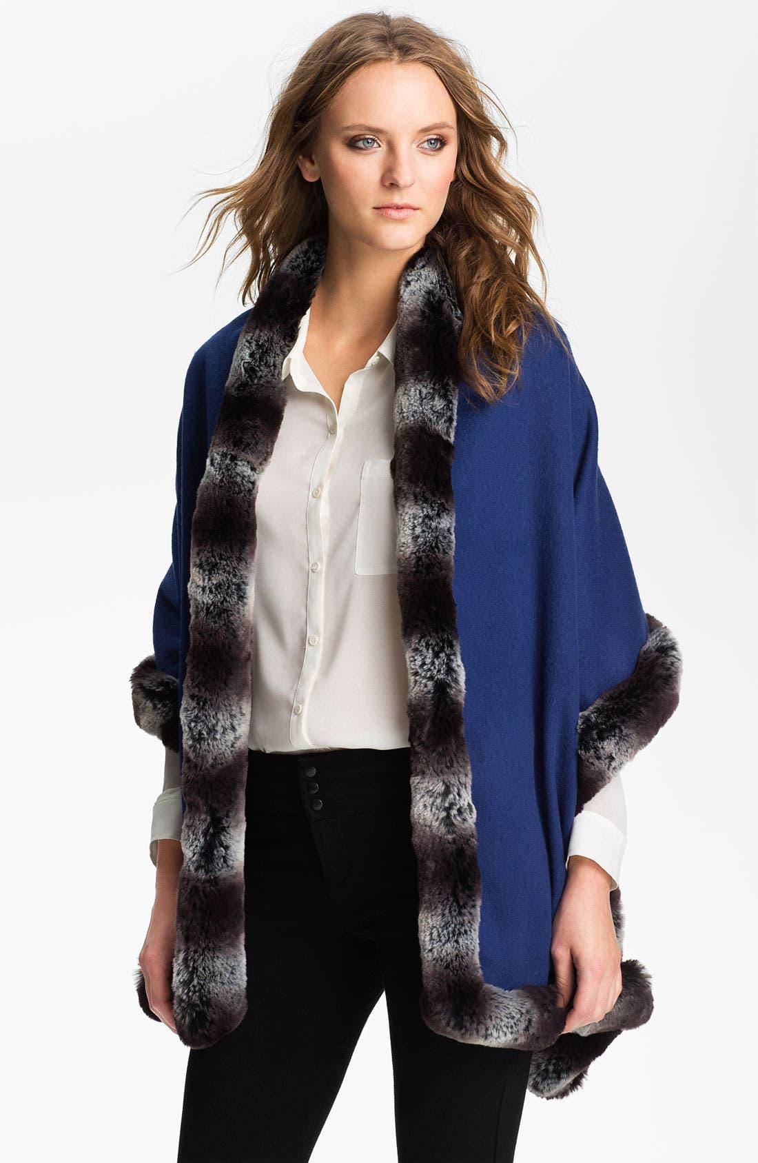 Alternate Image 1 Selected - Nordstrom Faux Fur Wool Wrap