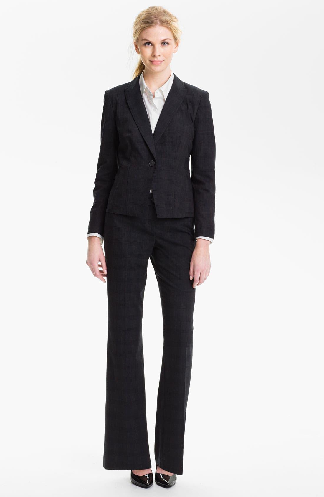 Alternate Image 4  - Halogen® Plaid Jacket (Petite)