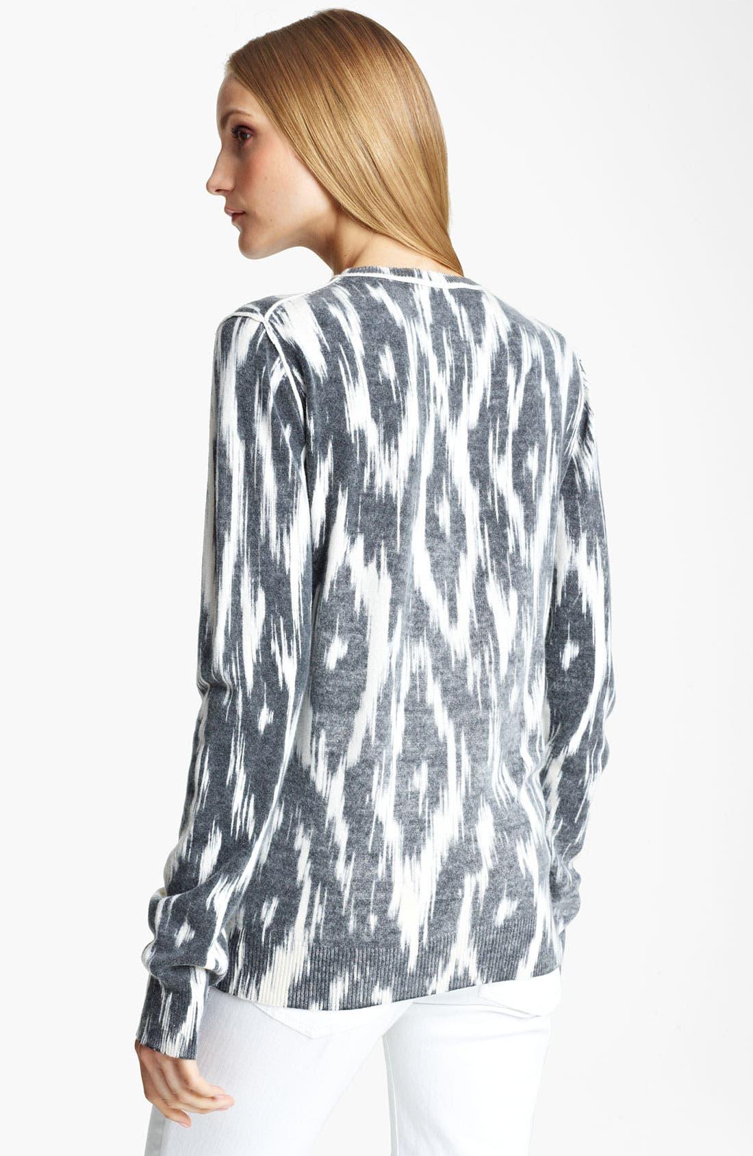 Alternate Image 2  - Michael Kors Ikat Print Cashmere Pullover