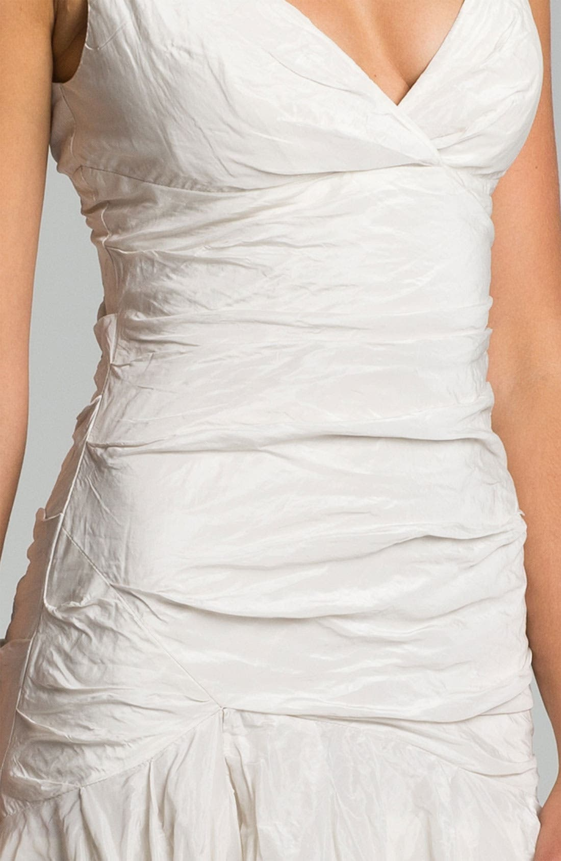 Alternate Image 3  - Nicole Miller 'Stacy' Metallic Textured Taffeta Trumpet Gown