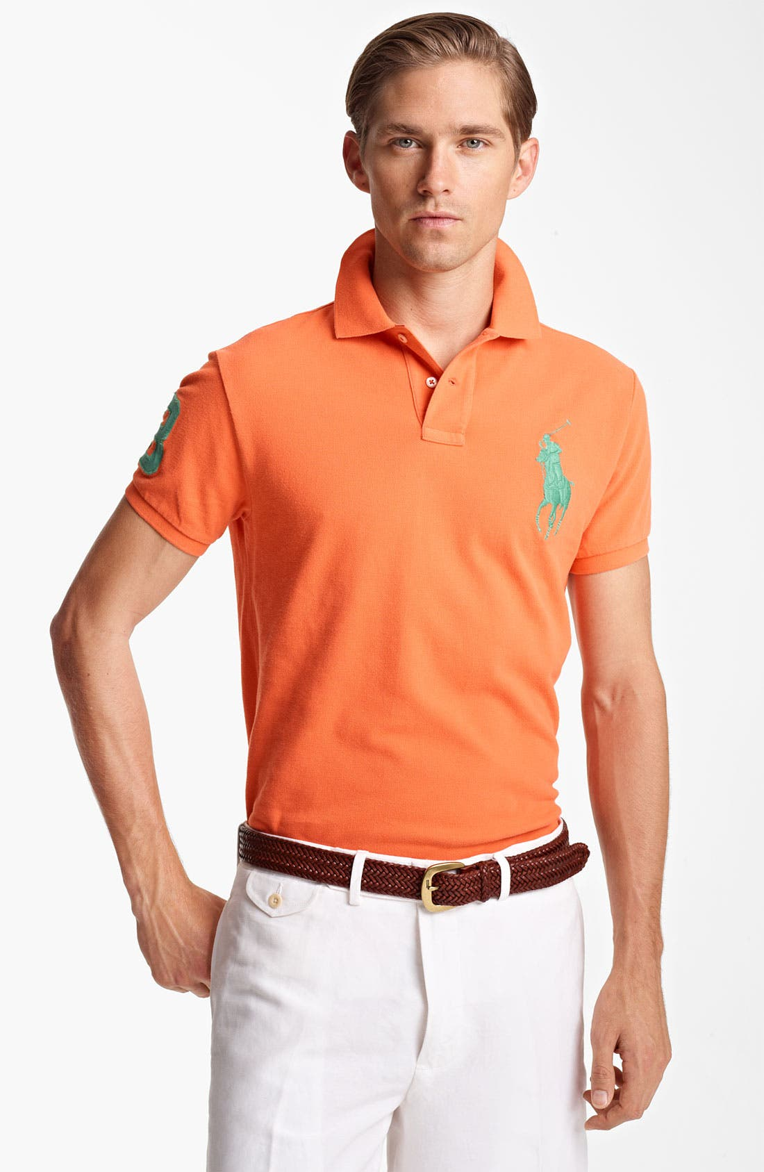 Alternate Image 1 Selected - Polo Ralph Lauren Custom Fit Mesh Polo