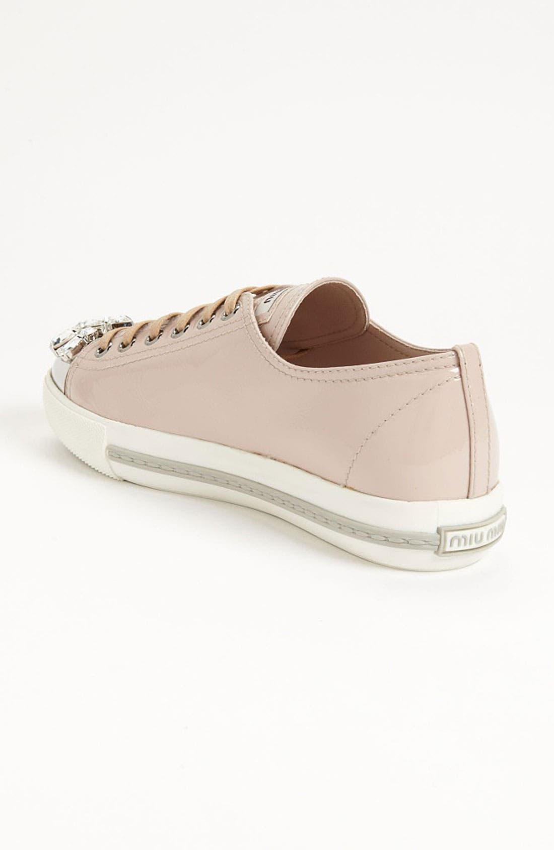 Alternate Image 2  - Miu Miu Crystal Cap Toe Sneaker